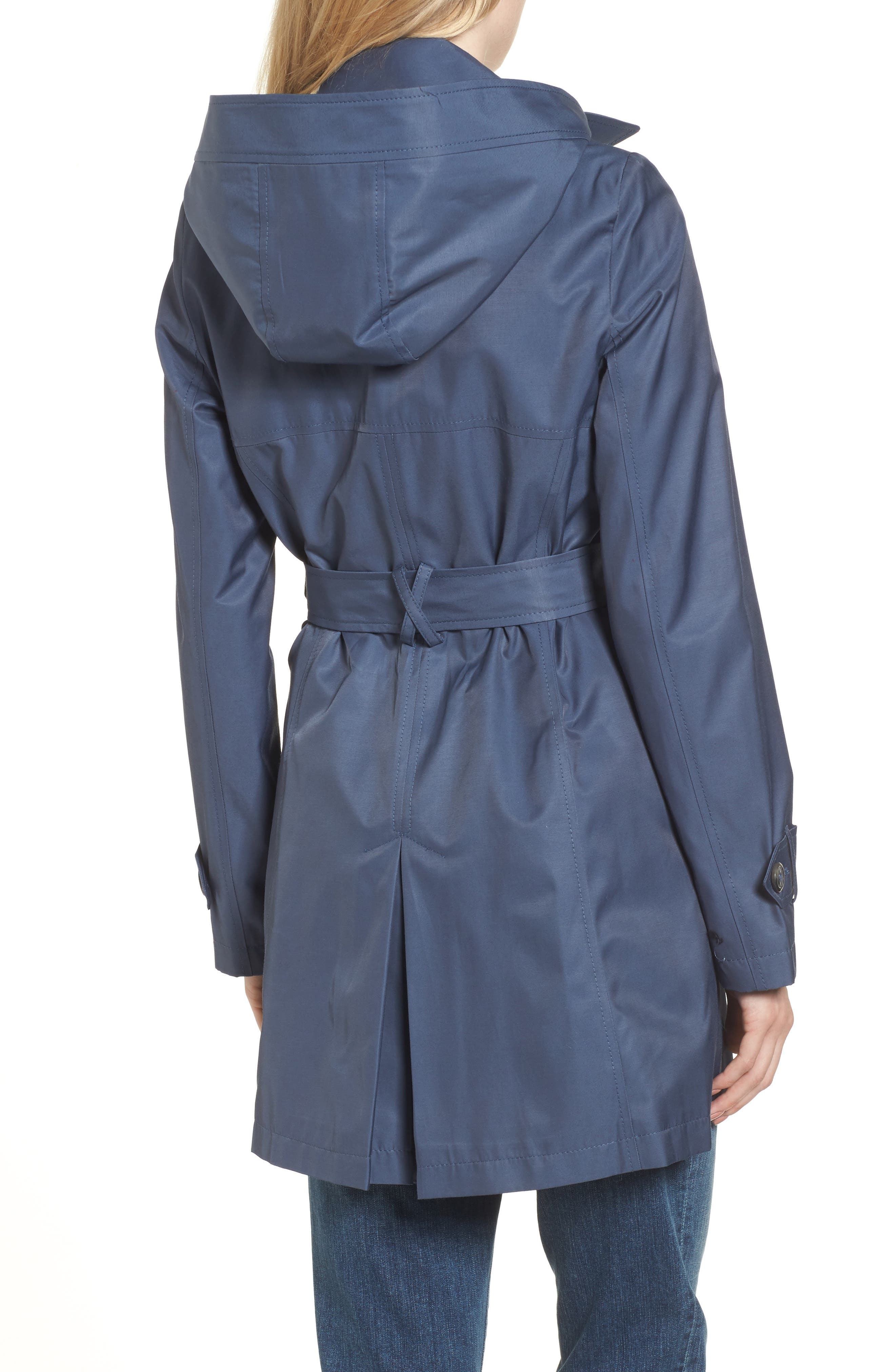 Alternate Image 2  - Halogen® Detachable Hood Trench Coat (Regular & Petite)