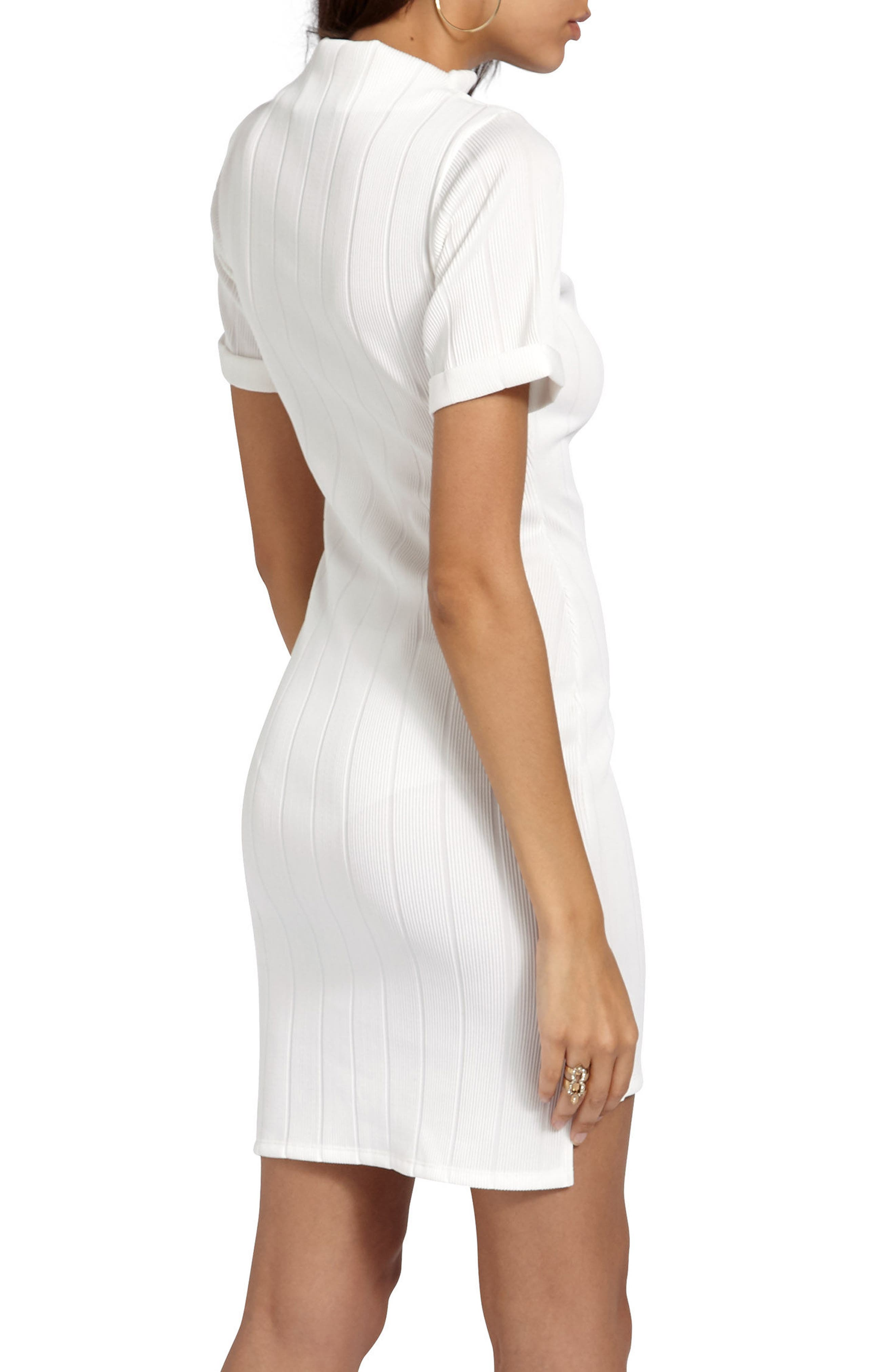 Alternate Image 2  - Missguided Mock Neck Sheath Dress