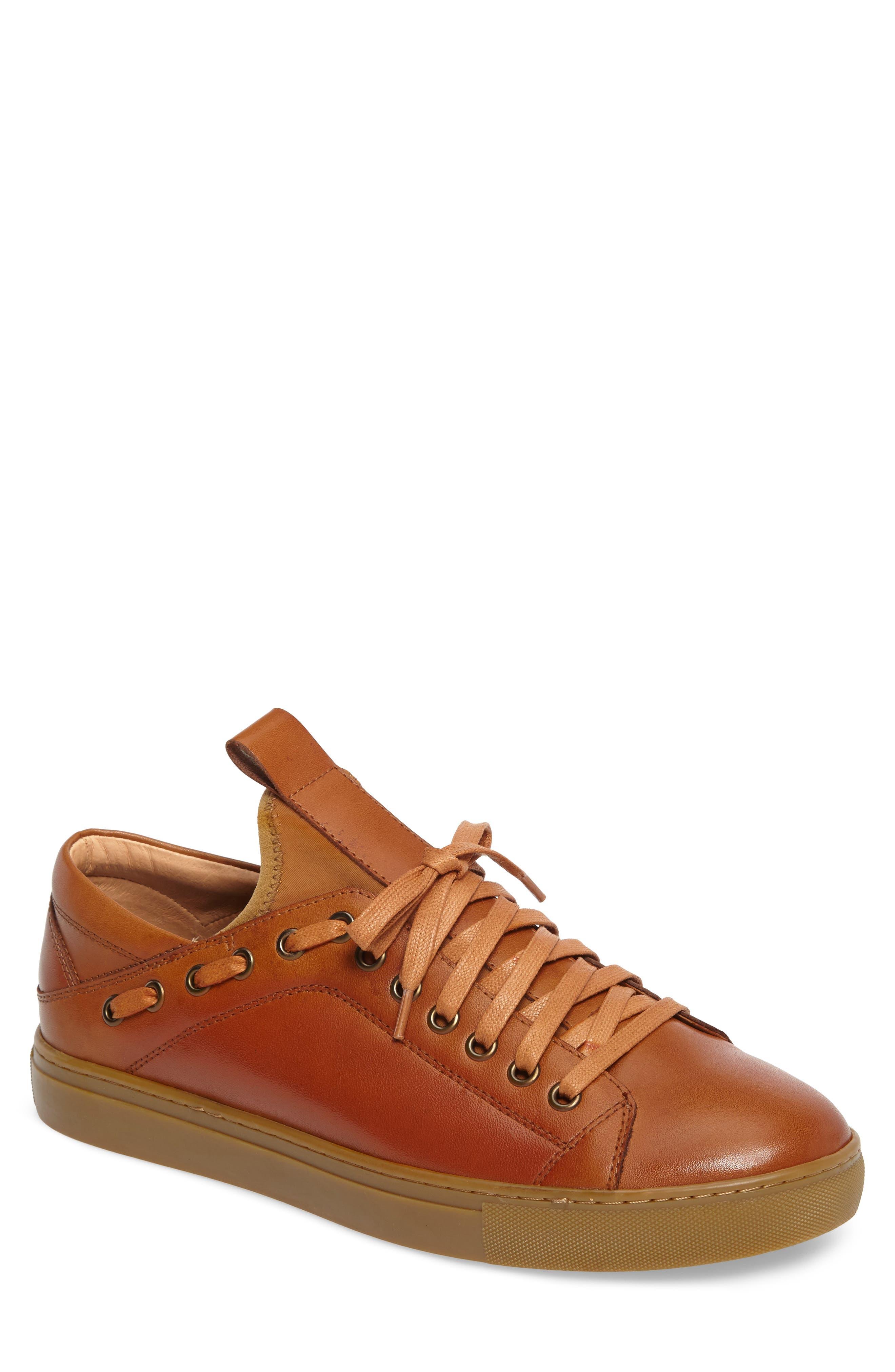 Owen Sneaker,                             Main thumbnail 1, color,                             Cognac Leather