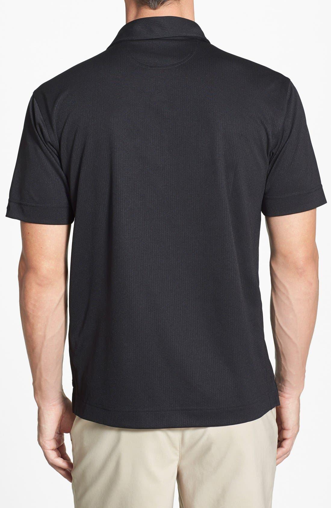 Atlanta Falcons - Genre DryTec Moisture Wicking Polo,                             Alternate thumbnail 2, color,                             Black