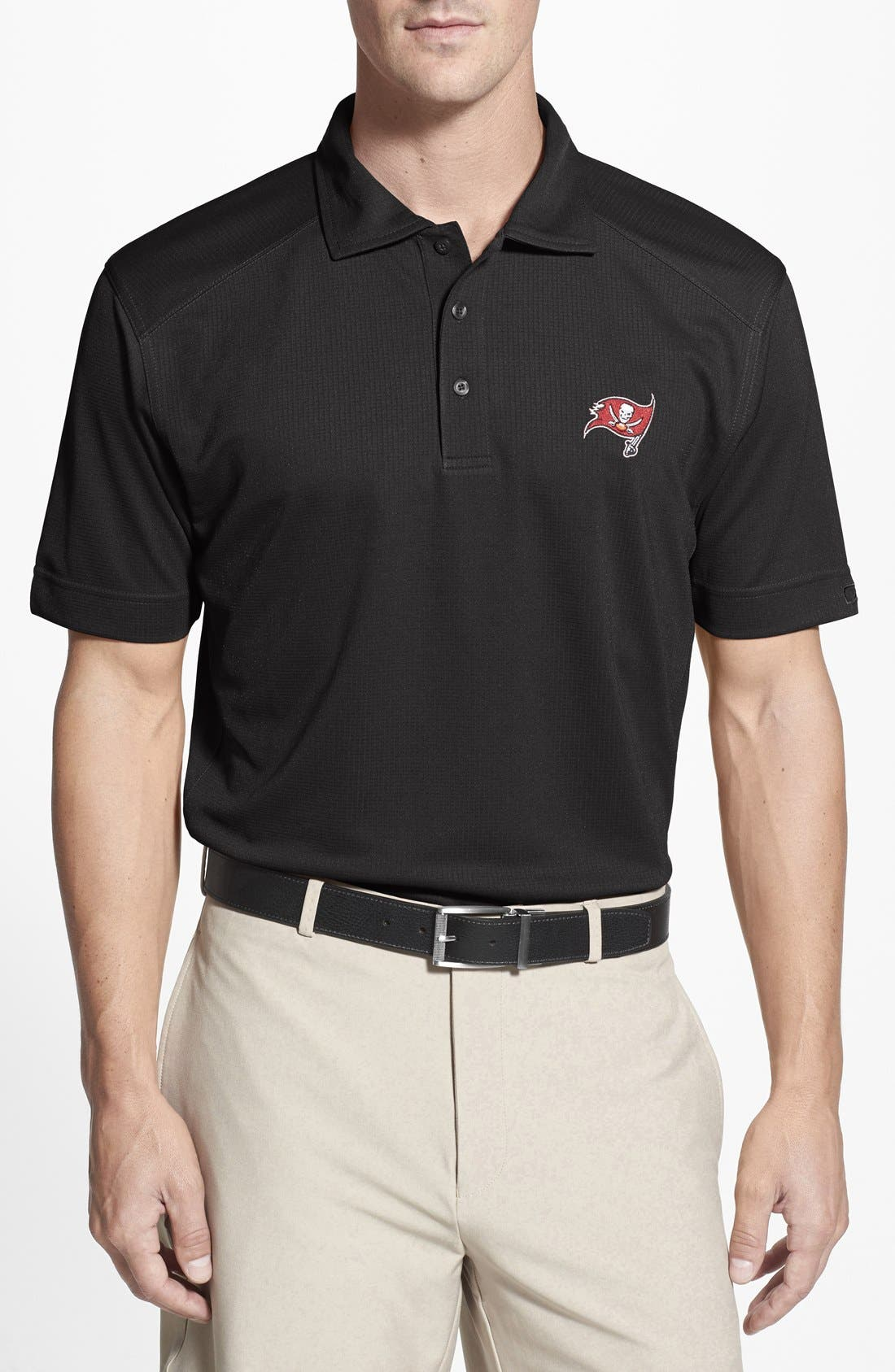 Tampa Bay Buccaneers - Genre DryTec Moisture Wicking Polo,                         Main,                         color, Black
