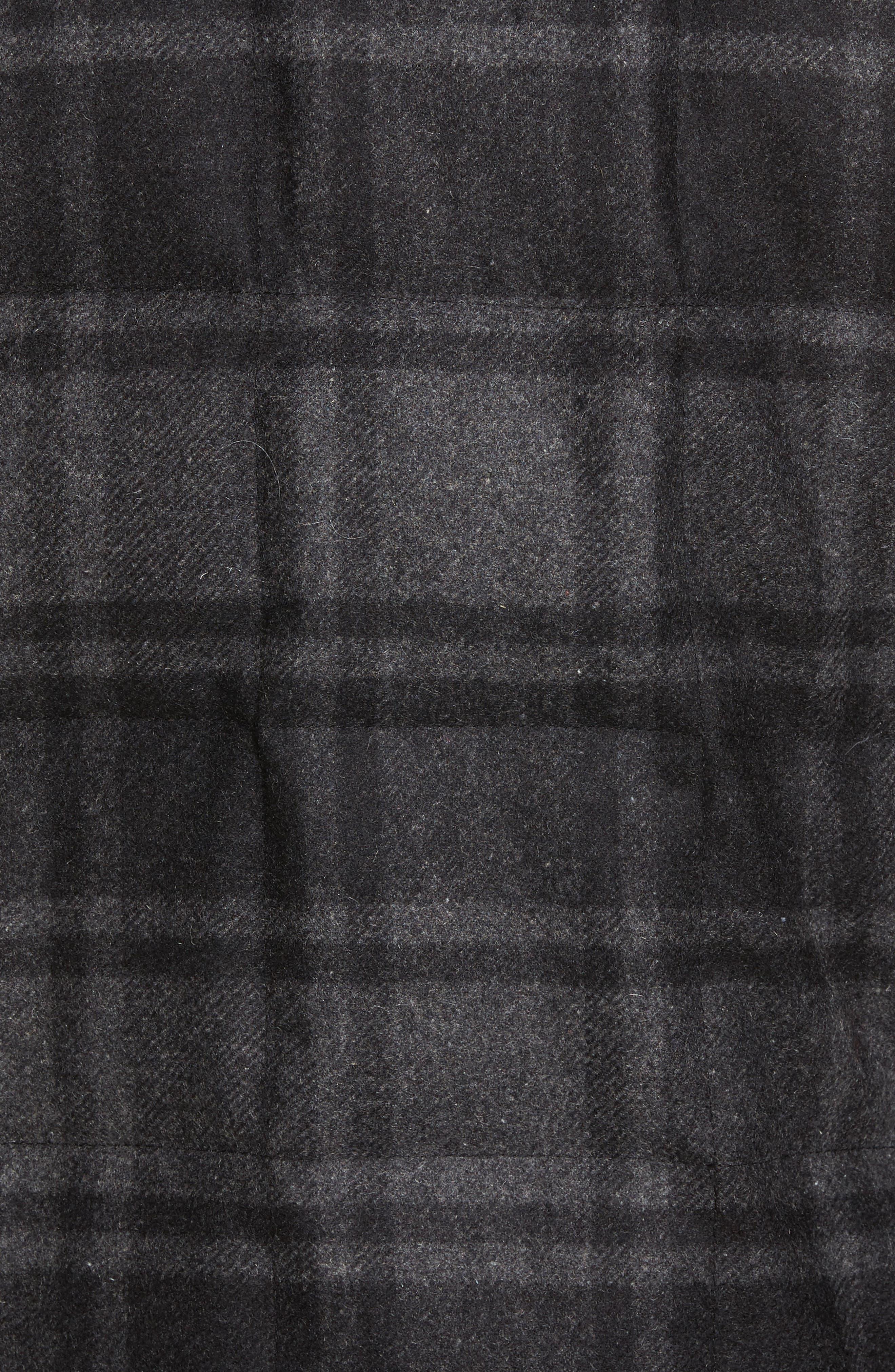 Yosemite Jacket,                             Alternate thumbnail 4, color,                             Black/ Charcoal Plaid