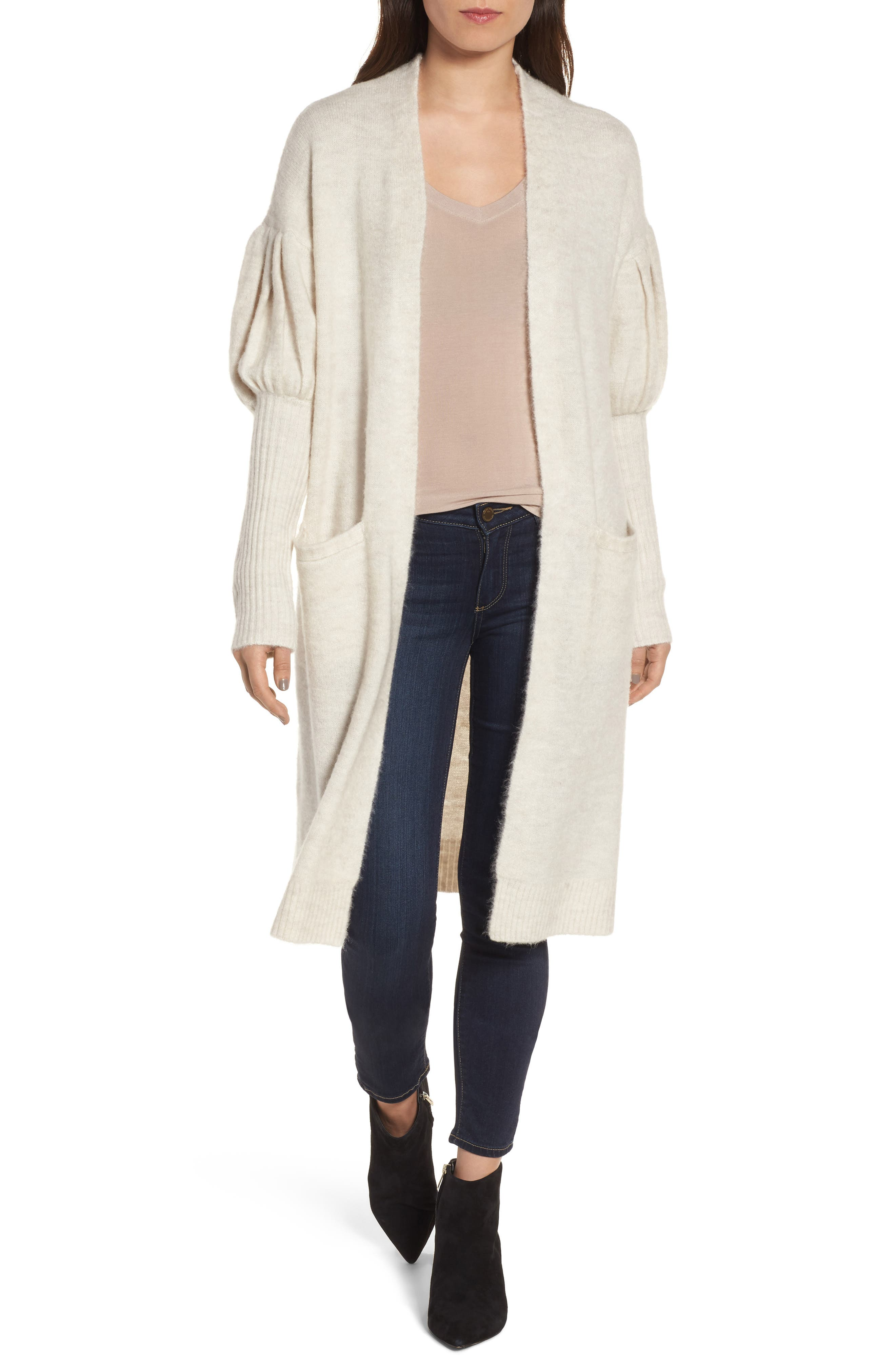 Cozy Cardigan,                         Main,                         color, Ivory Pristine