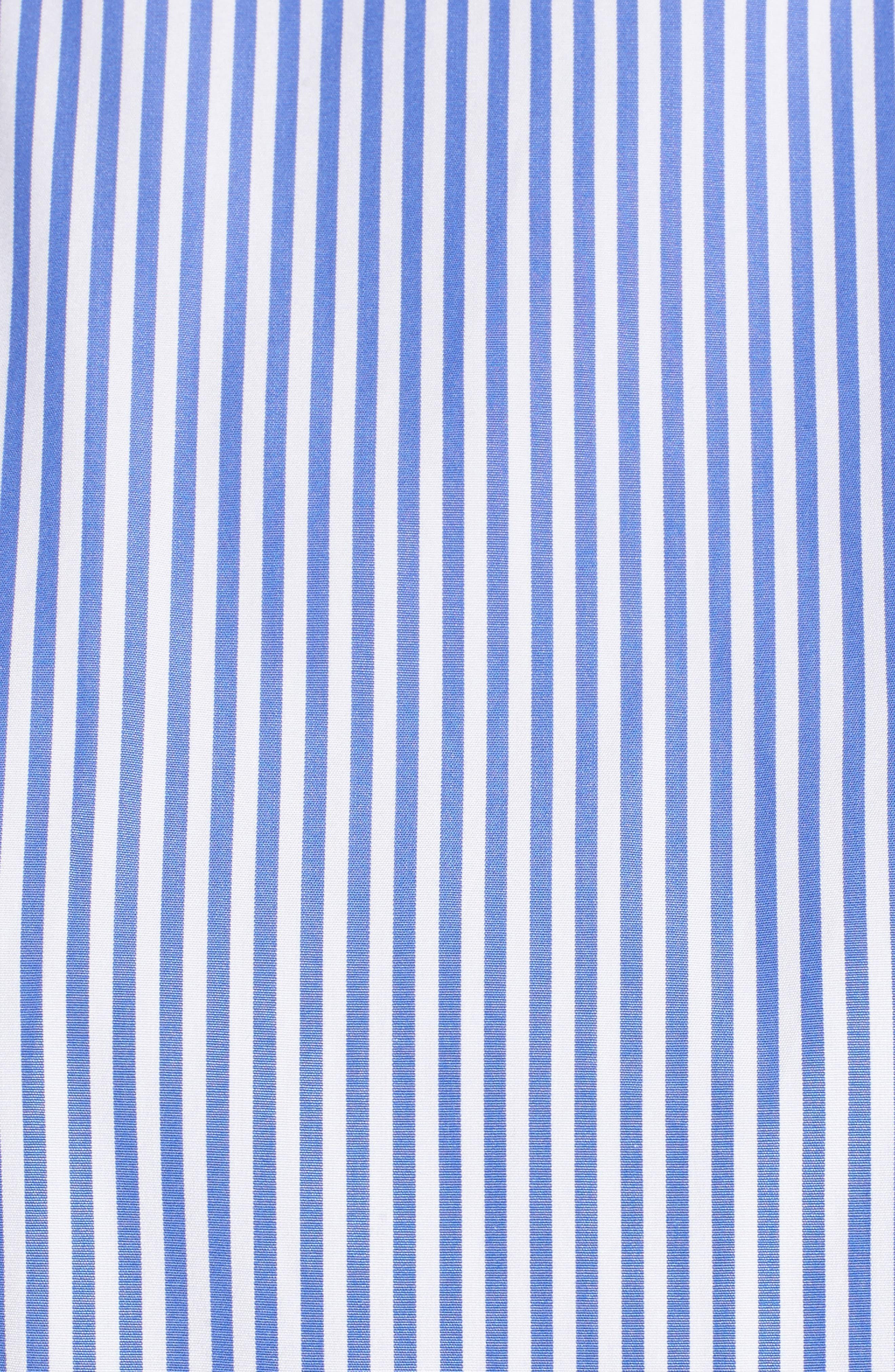 Balloon Sleeve Stripe Shirt,                             Alternate thumbnail 5, color,                             Blue Azurite Vania Stripe