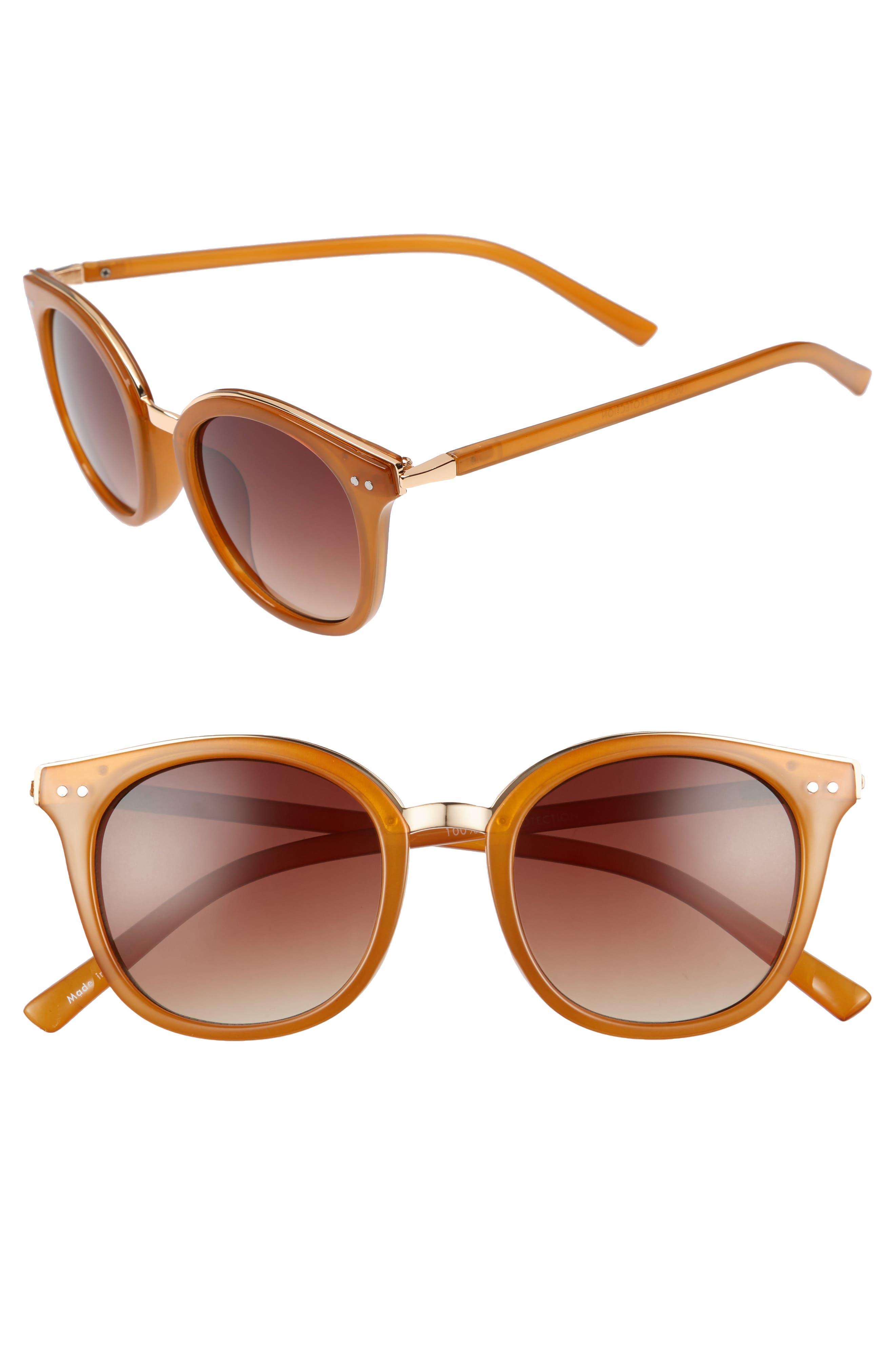BP. Metal Rim Round Sunglasses