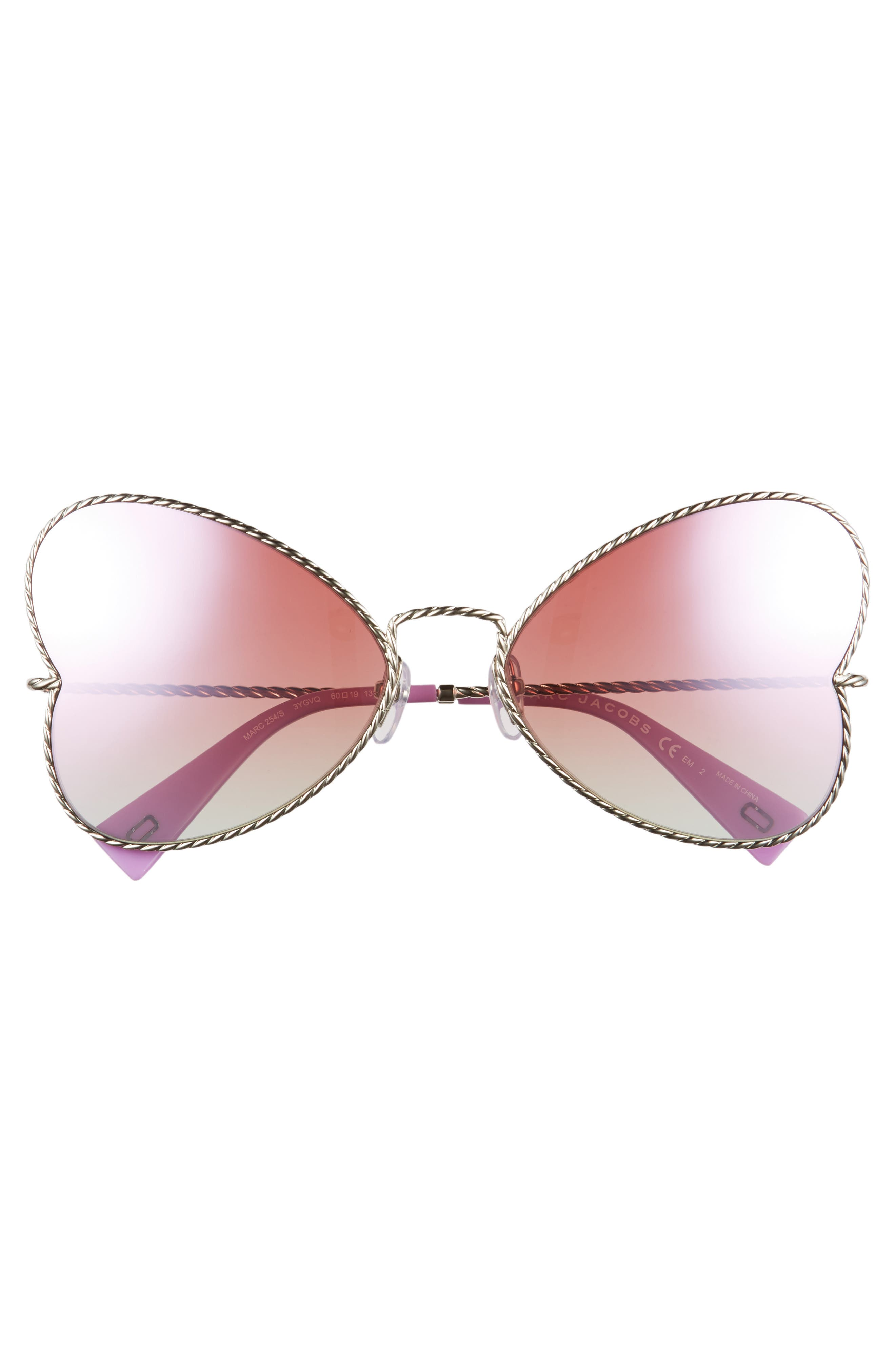 Alternate Image 3  - MARC JACOBS 60mm Heart Sunglasses
