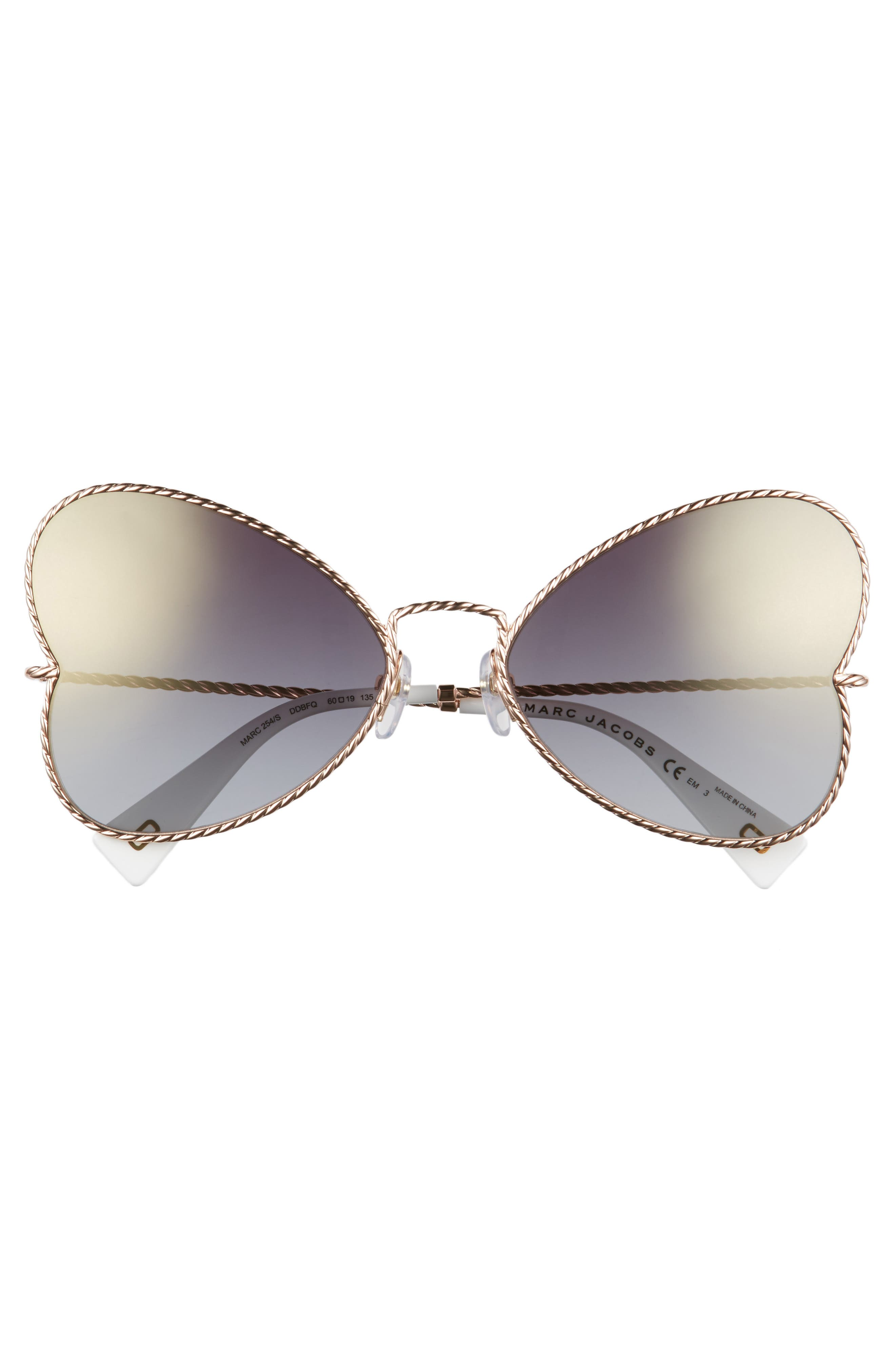 Alternate Image 3  - MARC JACOBS 60mm Heart Sunglasses