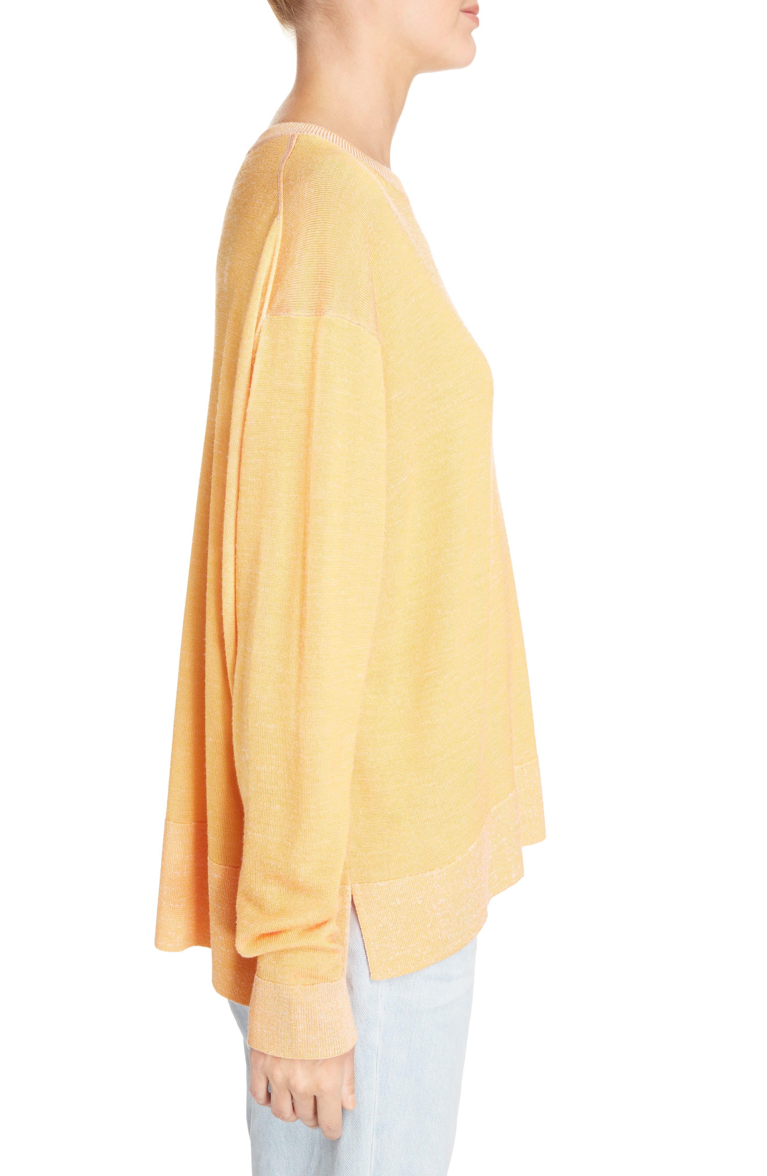Finola 2-Tone Sweater,                             Alternate thumbnail 3, color,                             Orange