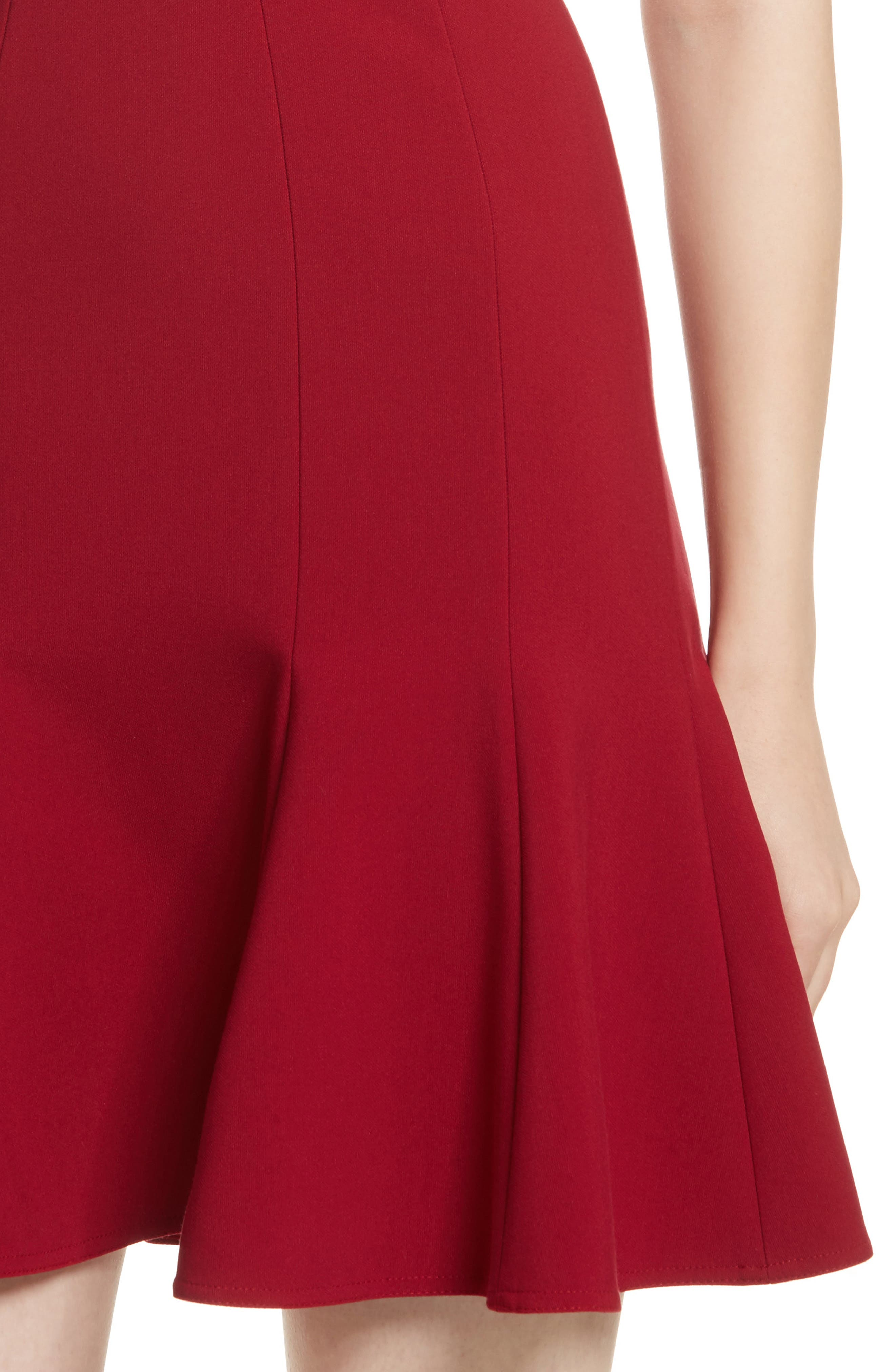 Rooney Flare Hem Dress,                             Alternate thumbnail 4, color,                             Ruby