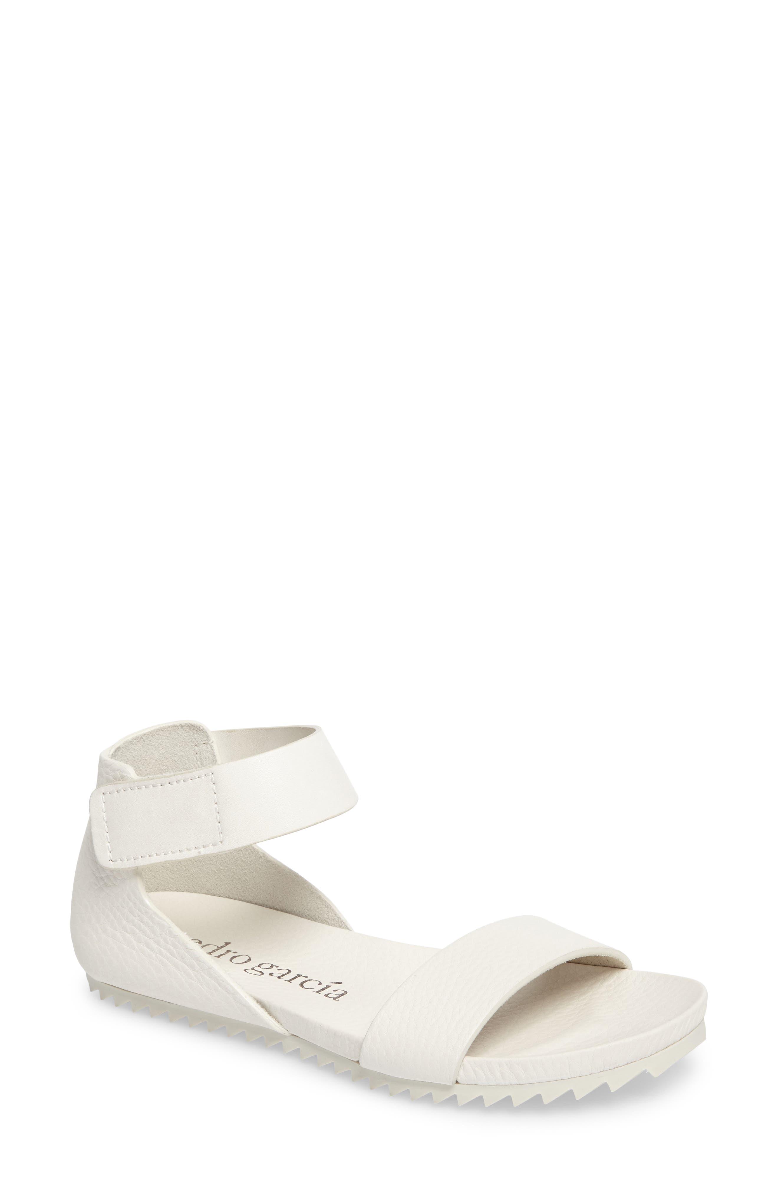 Jalila Ankle Strap Sandal,                         Main,                         color, Chalk Cervo