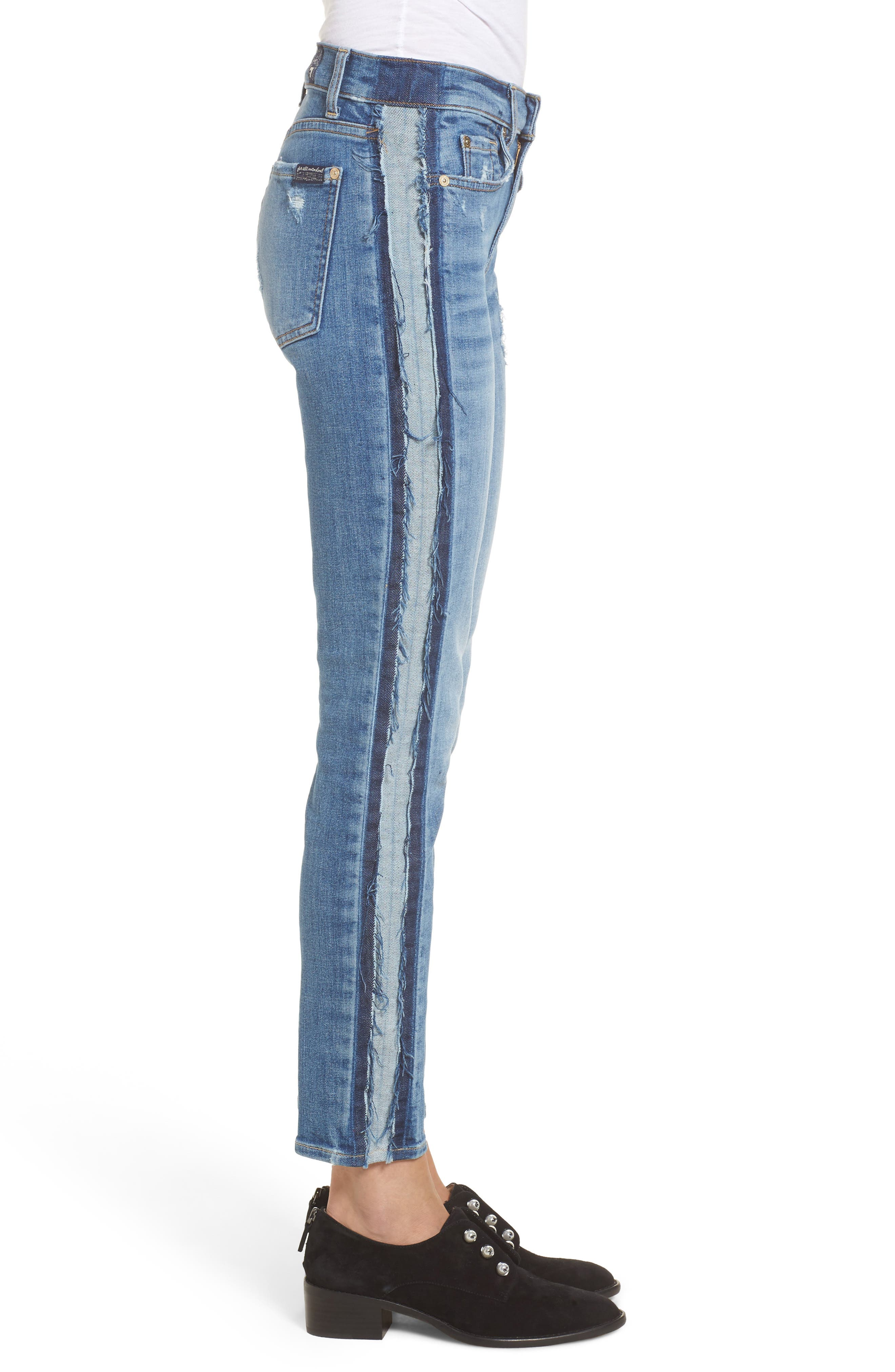 Roxanne Ankle Jeans,                             Alternate thumbnail 3, color,                             Bright Houston