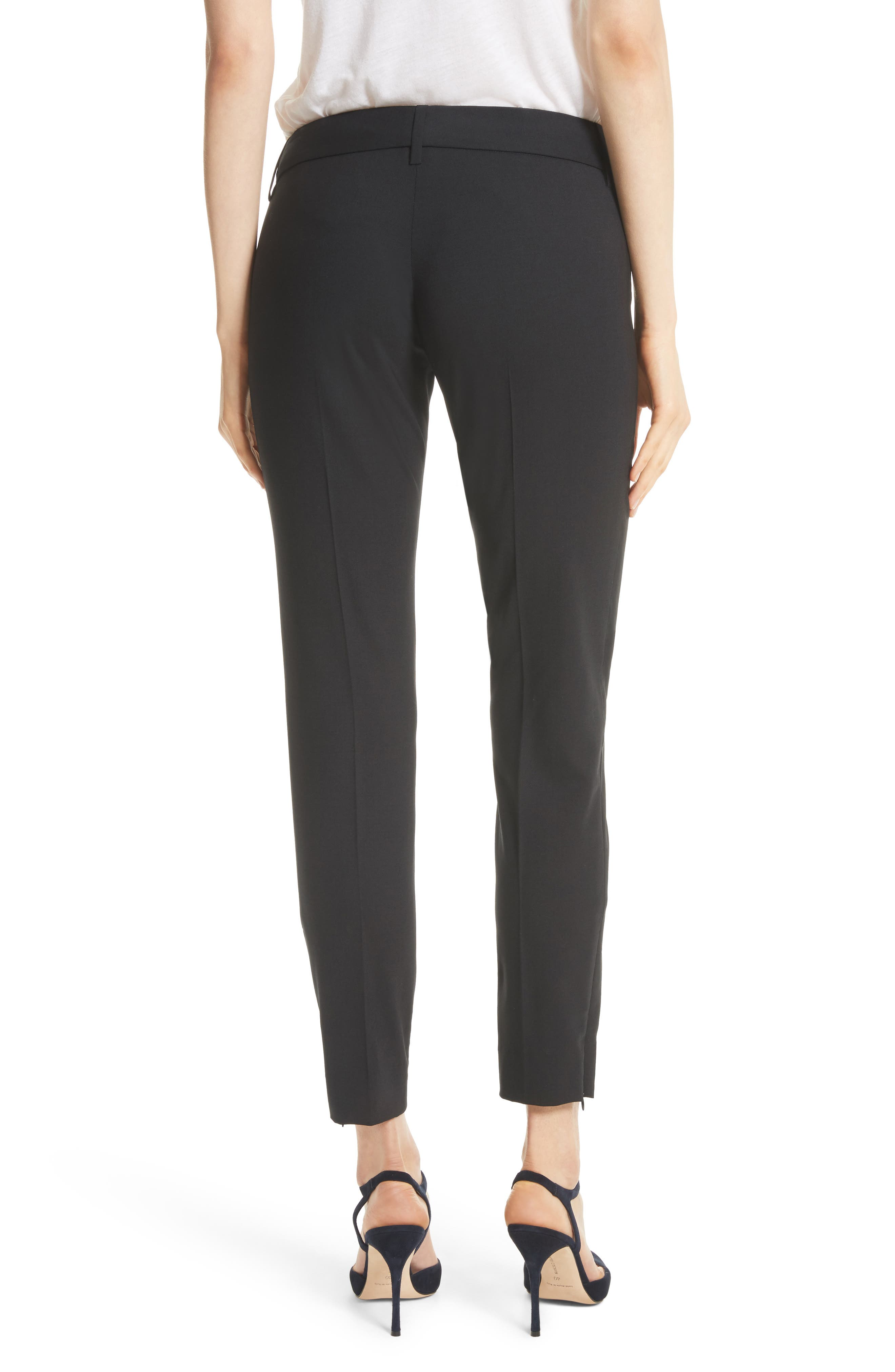Nahla Ankle Pants,                             Alternate thumbnail 4, color,                             Black