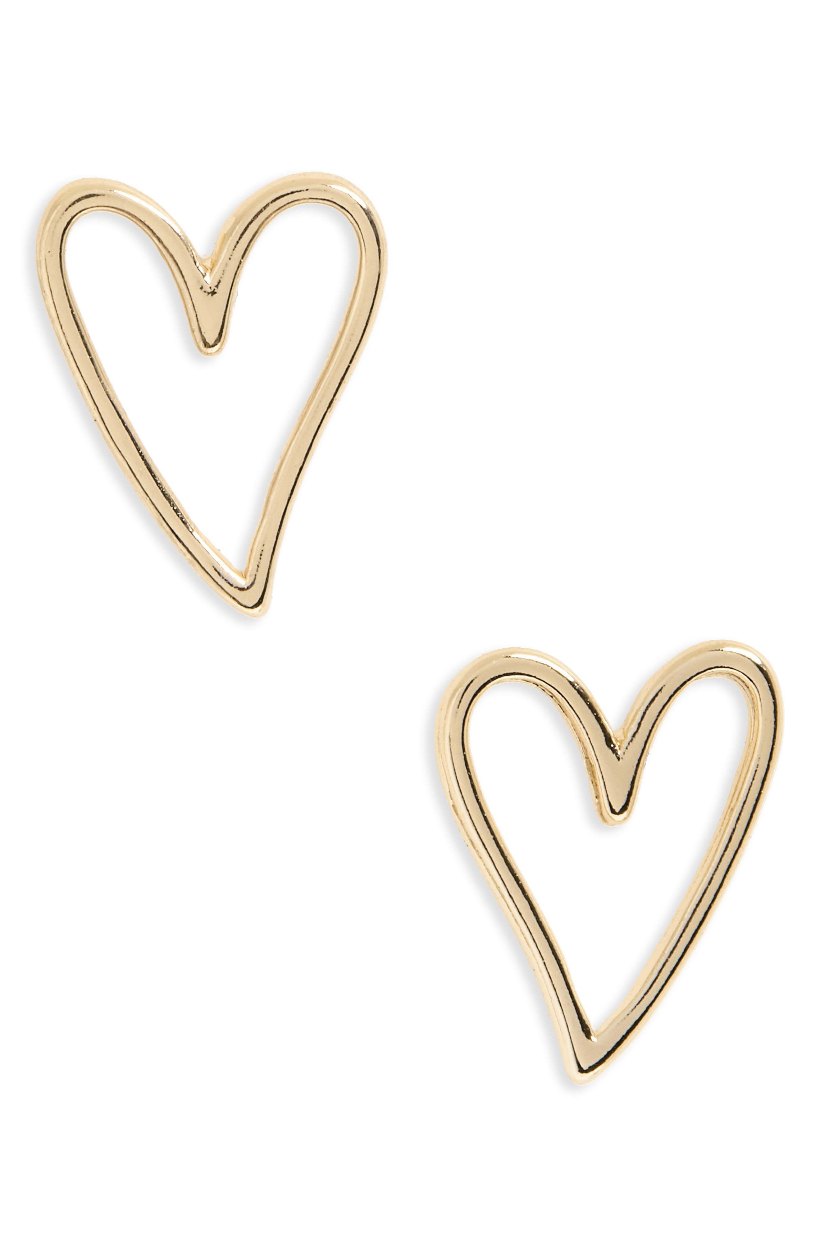 Rebecca Minkoff Open Heart Stud Earrings