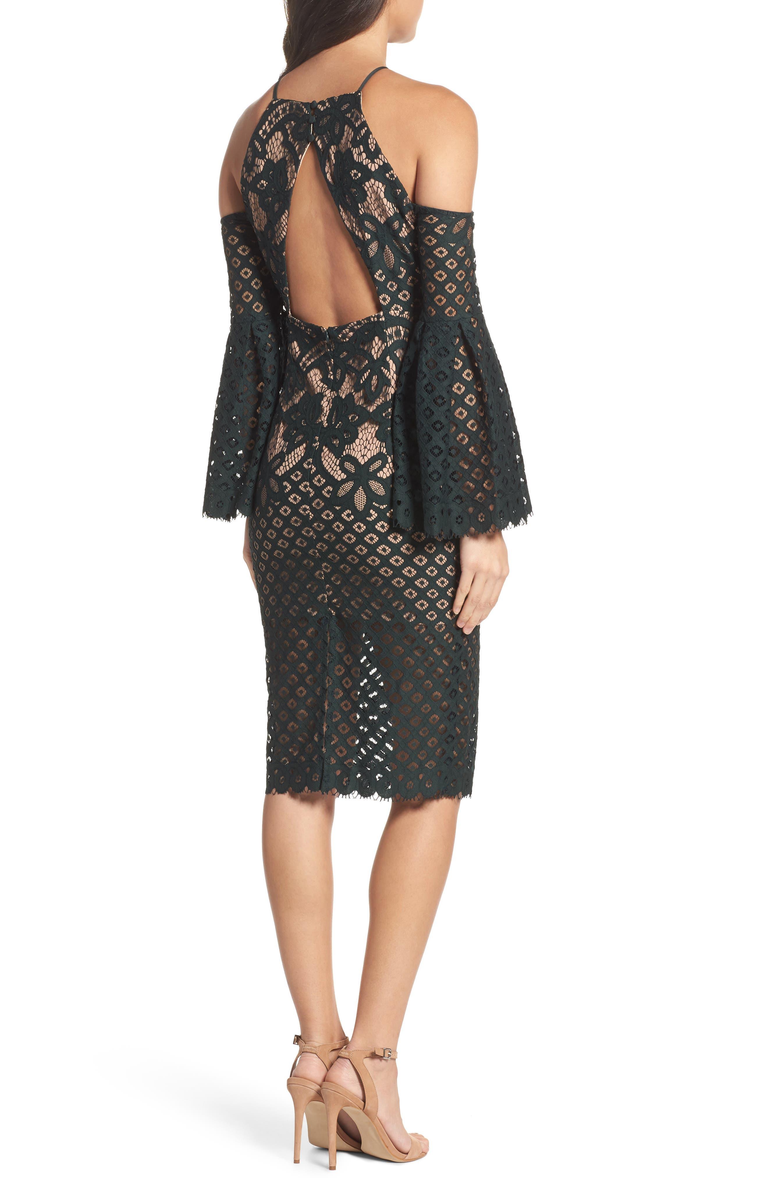 Alternate Image 2  - Bardot 'Mila' Cold Shoulder Lace Midi Dress
