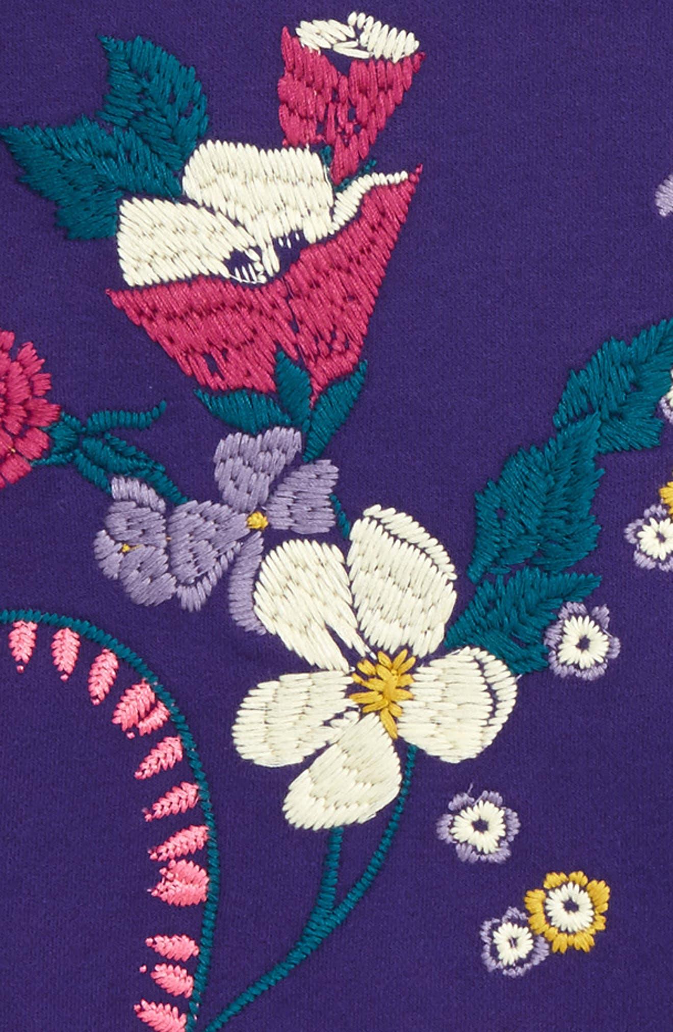 Alternate Image 2  - Tea Collection Primrose Embroidered Sweatshirt (Toddler Girls, Little Girls & Big Girls)