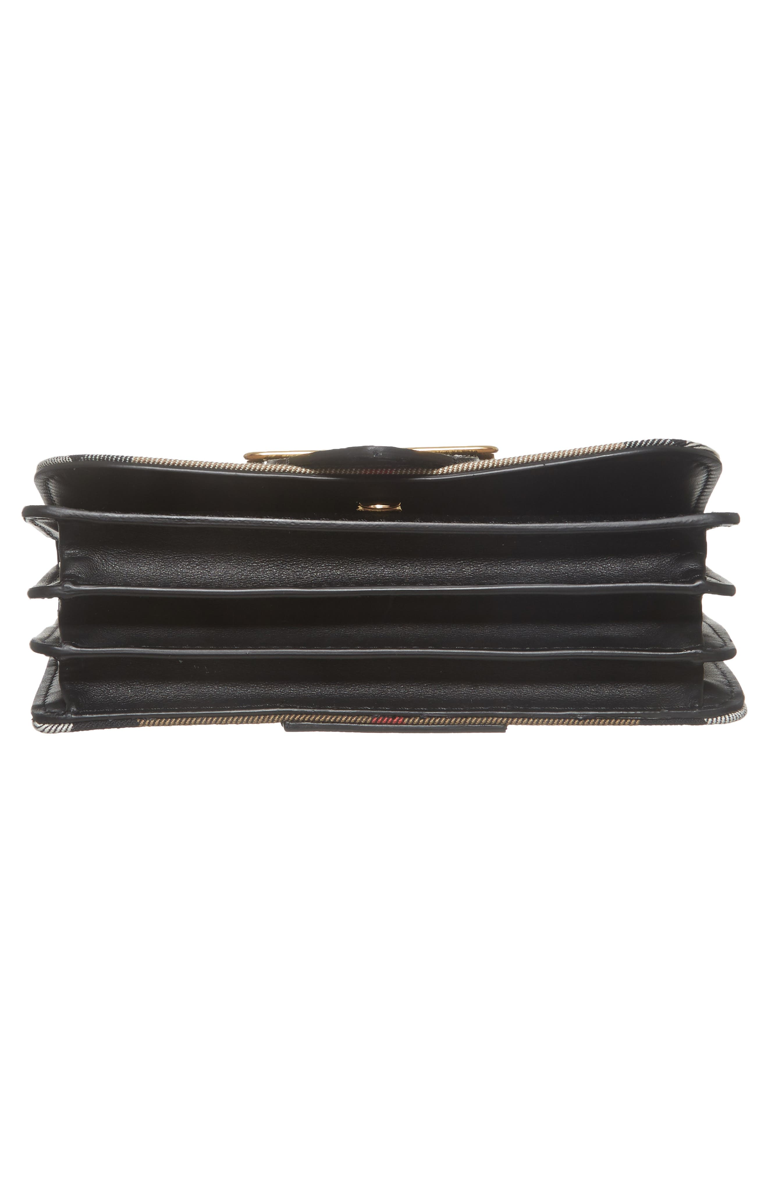 Alternate Image 7  - Burberry Small Buckle House Check & Leather Convertible Clutch