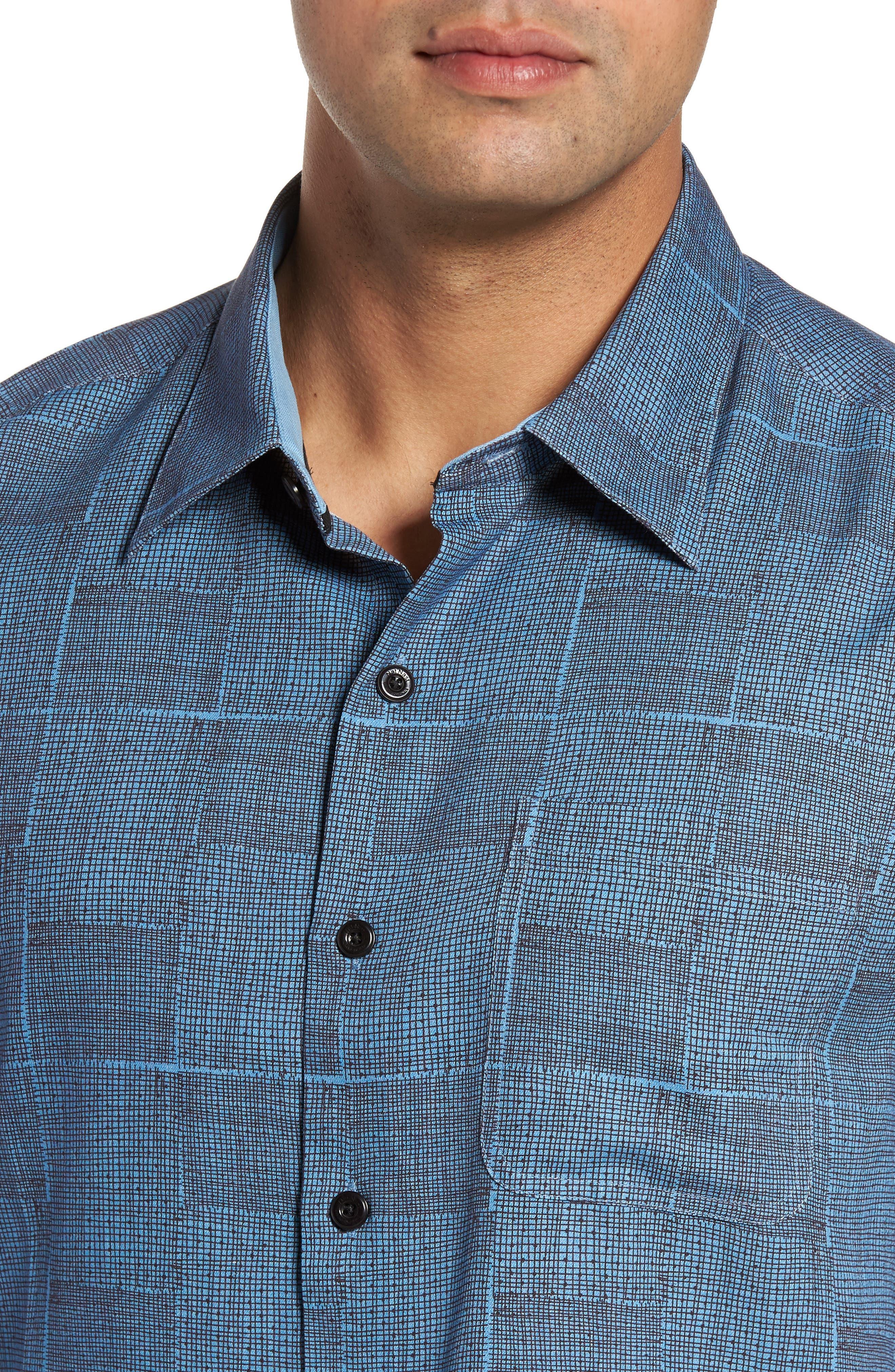 Alternate Image 4  - Nat Nast Alta Classic Fit Silk Blend Camp Shirt
