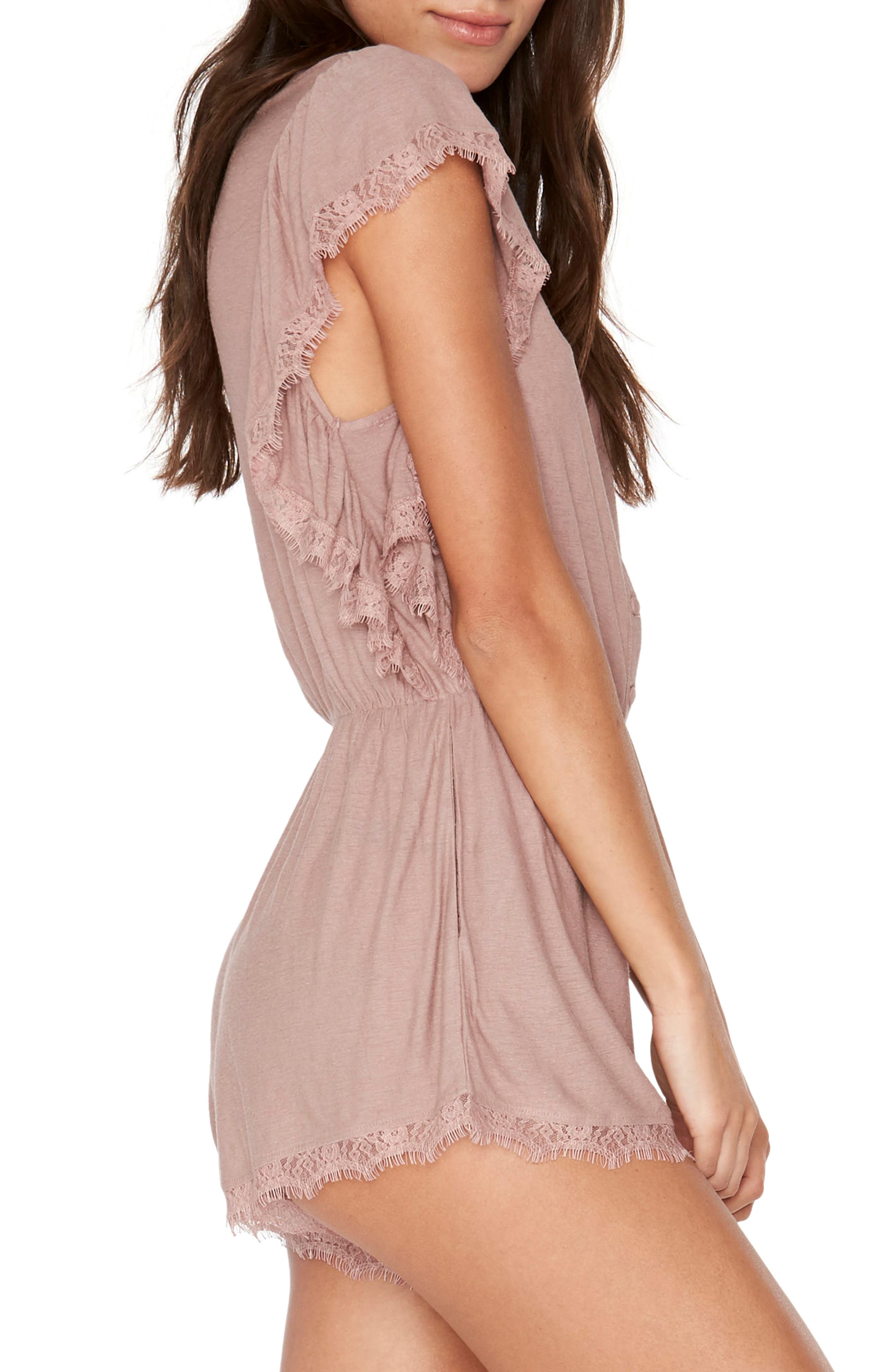 Sweet Life Romper,                             Alternate thumbnail 3, color,                             Dusty Pear