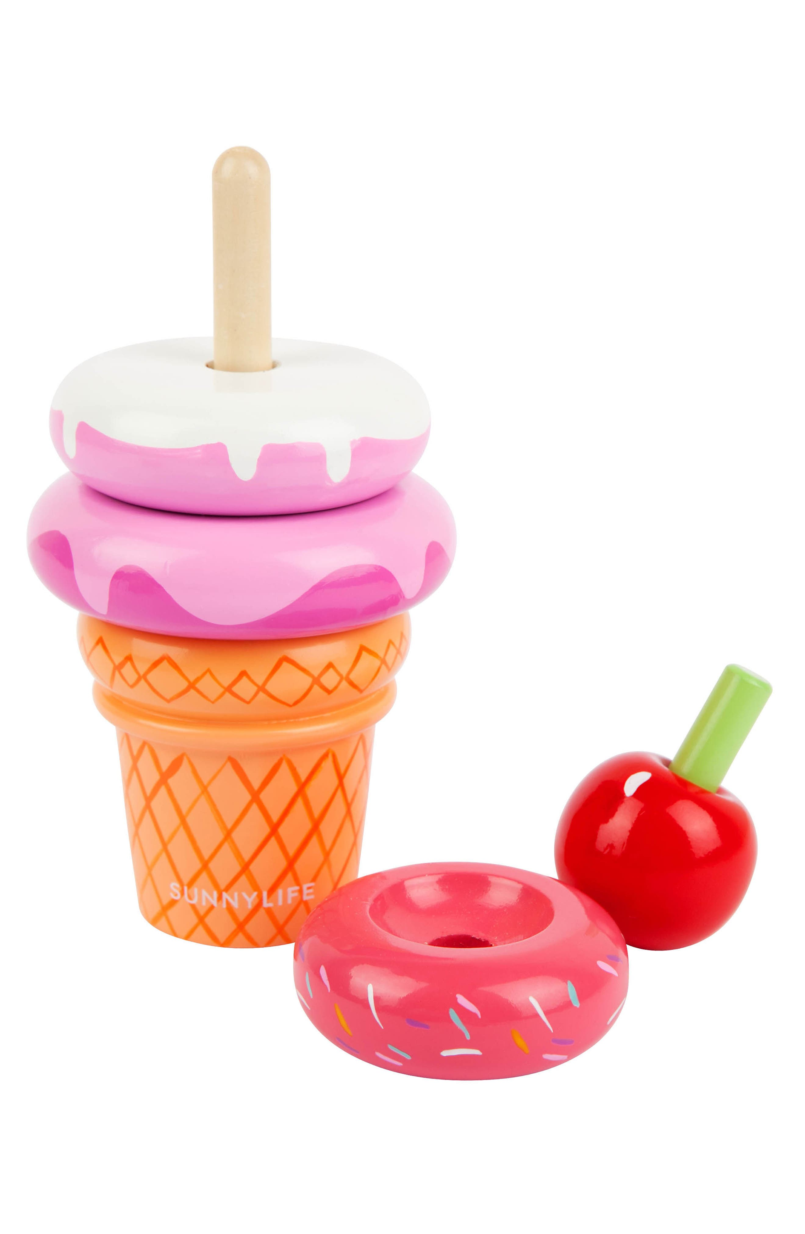 Ice Cream Stacking Toy,                             Alternate thumbnail 2, color,                             Multi
