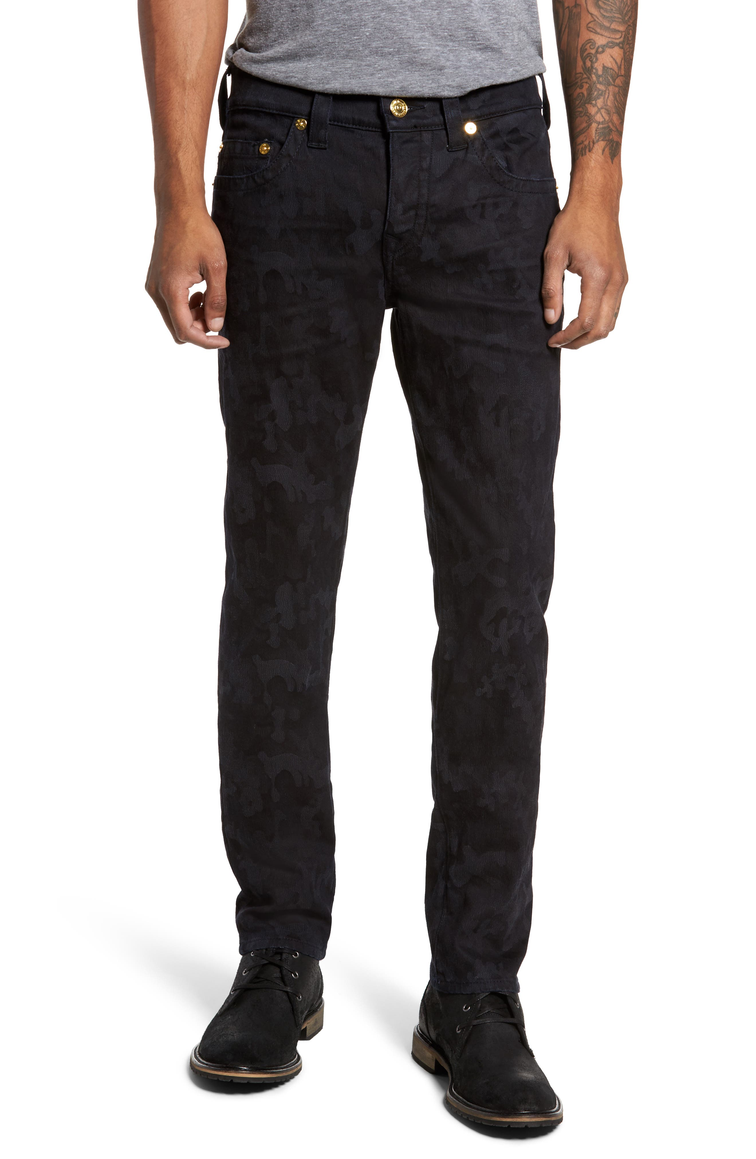 Alternate Image 1 Selected - True Religion Brand Jeans Rocco Skinny Fit Jeans (Midnight Camo)