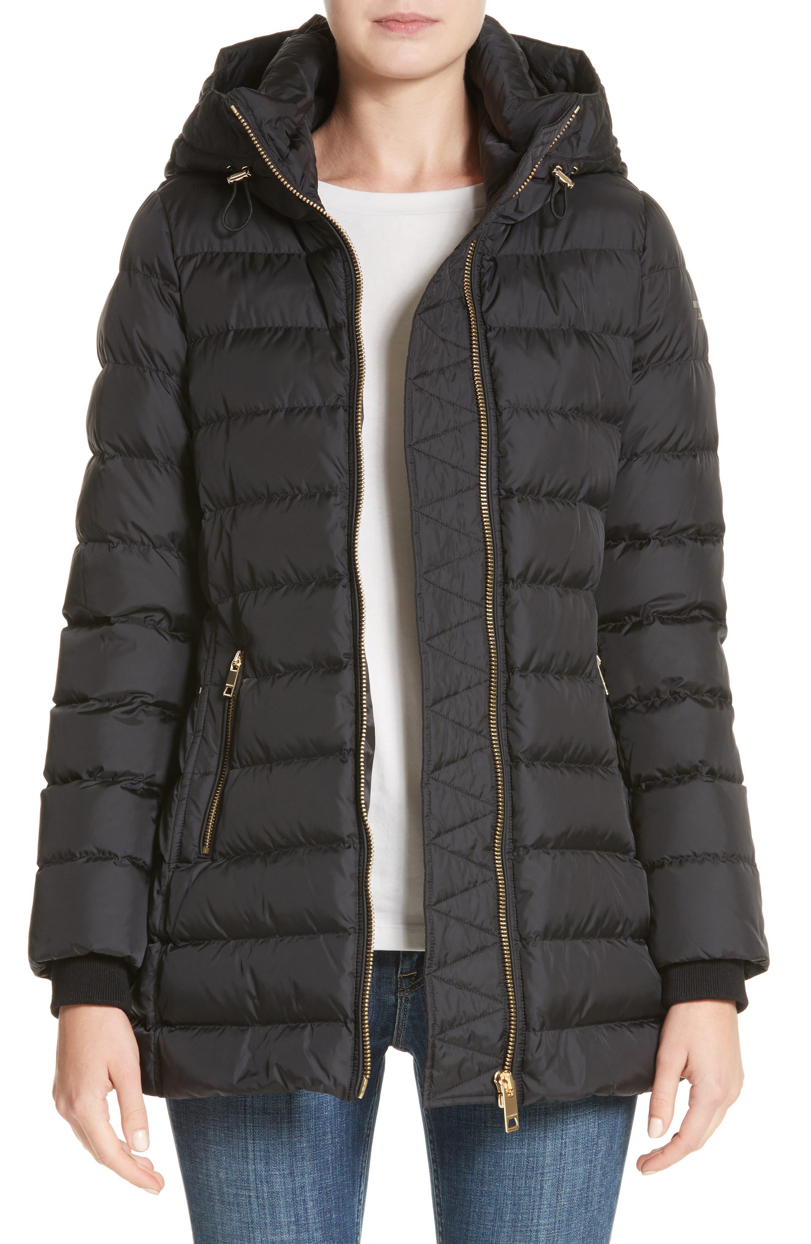 Limefield Hooded Puffer Coat,                             Main thumbnail 1, color,                             Black