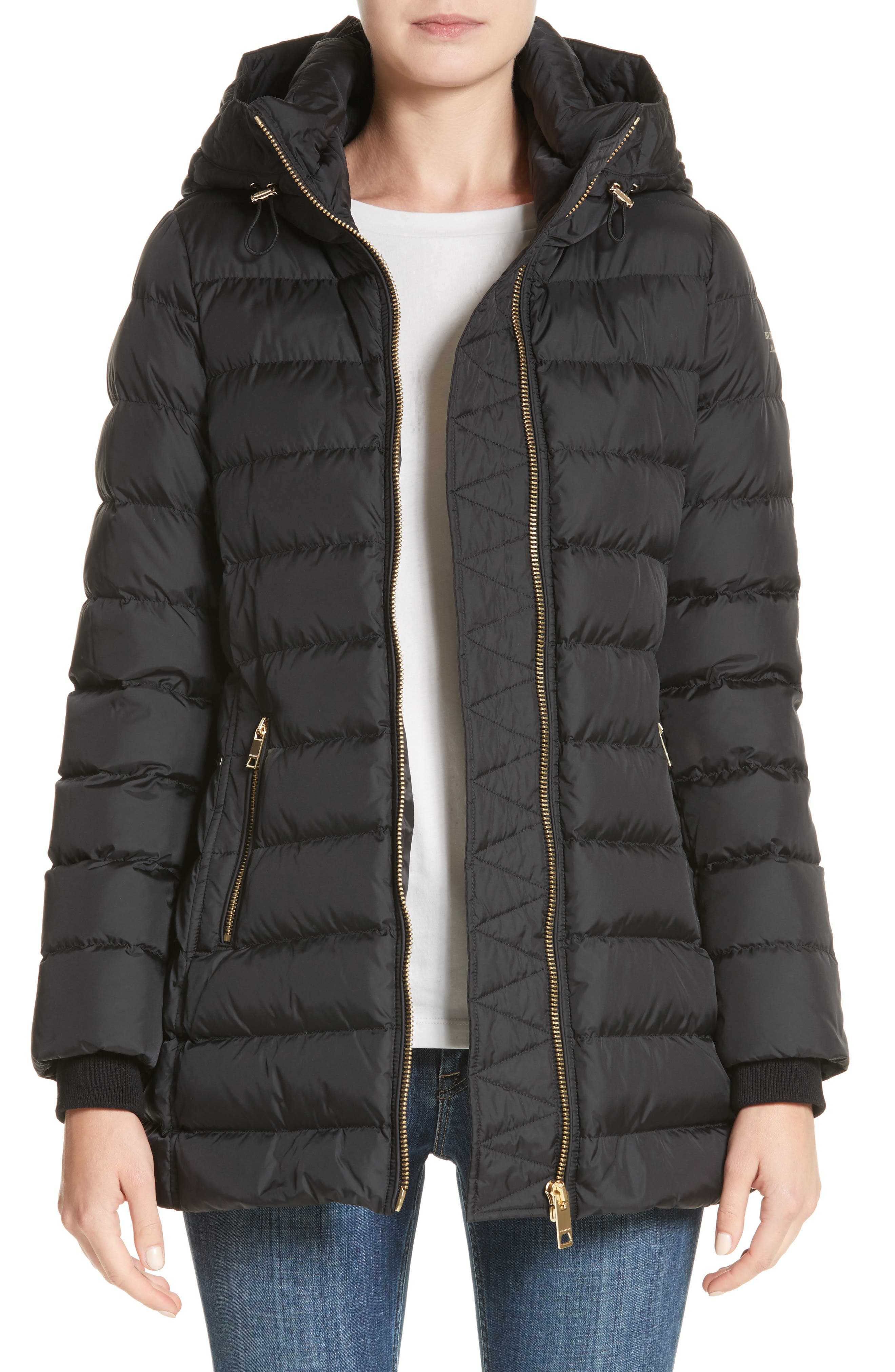 Main Image - Burberry Limefield Hooded Puffer Coat