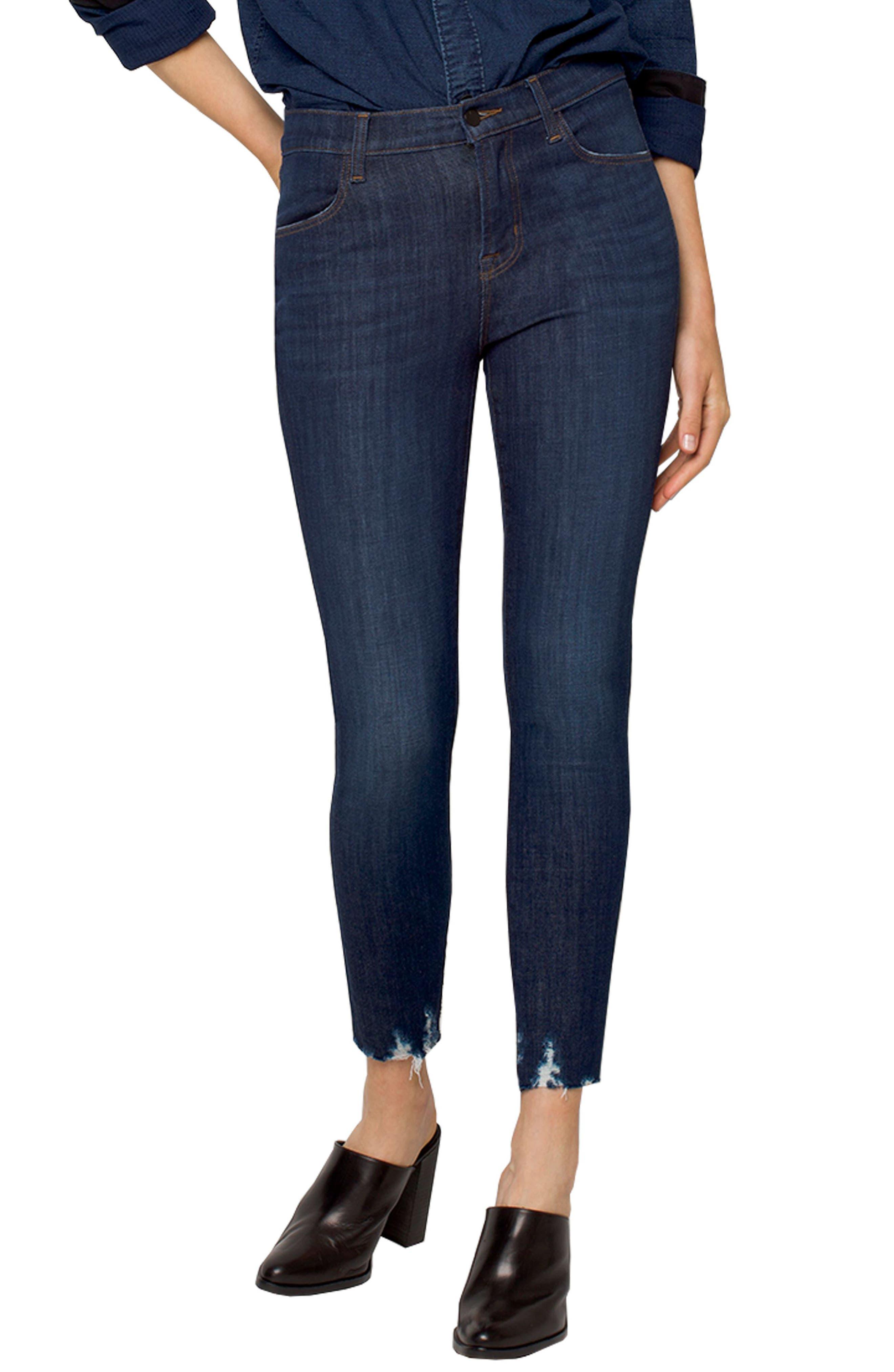 J Brand Alana High Waist Crop Skinny Jeans (Dark Fantasy)