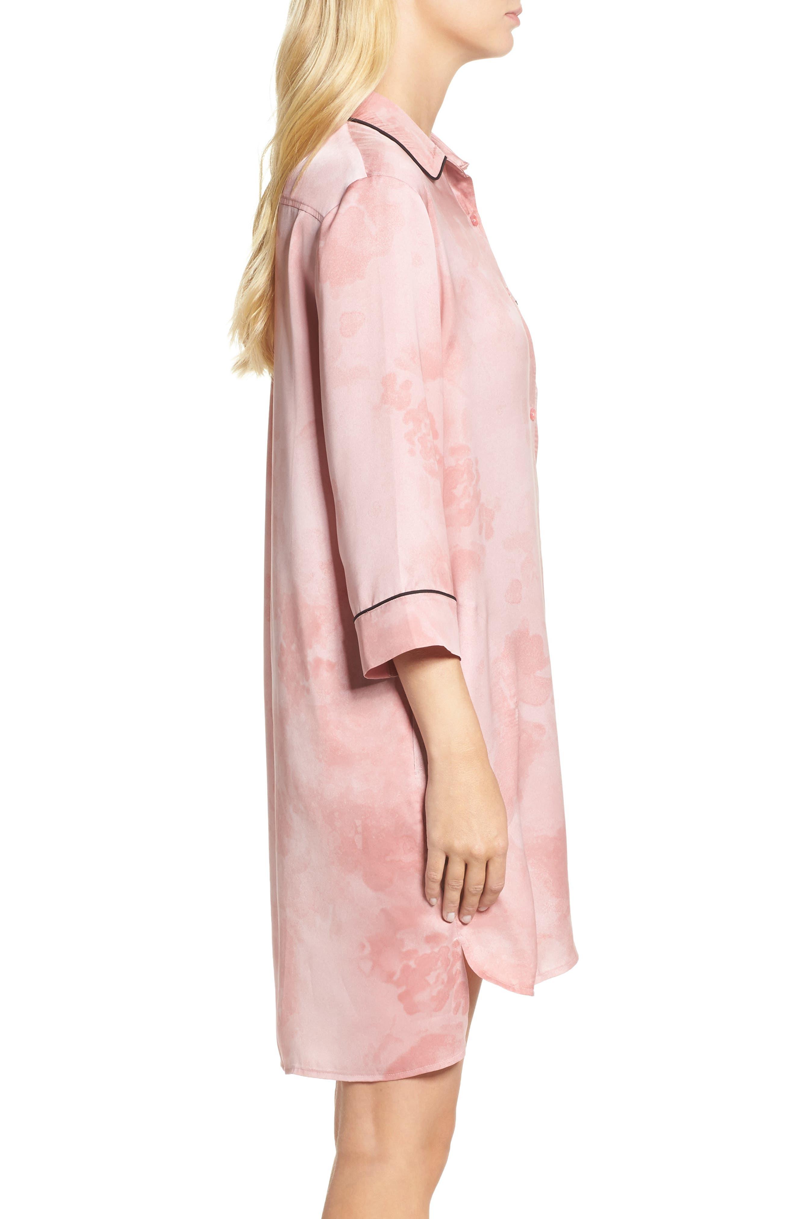 Alternate Image 3  - DKNY Washed Satin Sleep Shirt