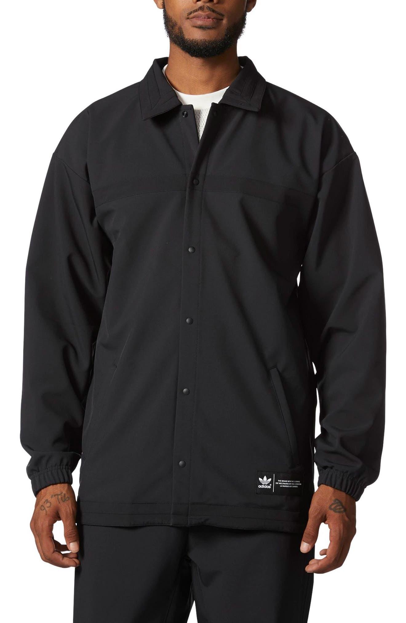 CR8 Coach's Jacket,                             Main thumbnail 1, color,                             Black