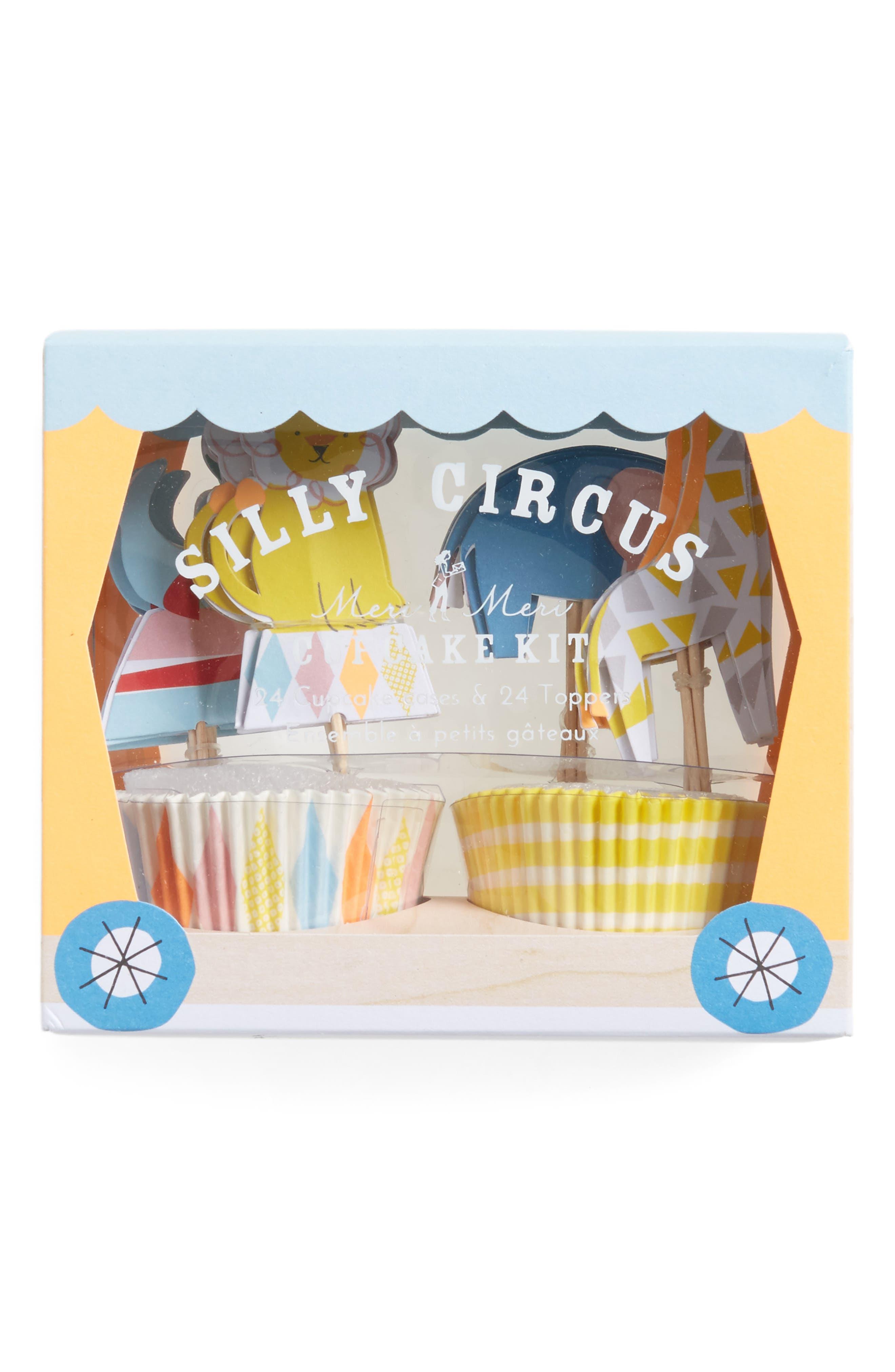 Main Image - Meri Meri Silly Circus Cupcake Kit