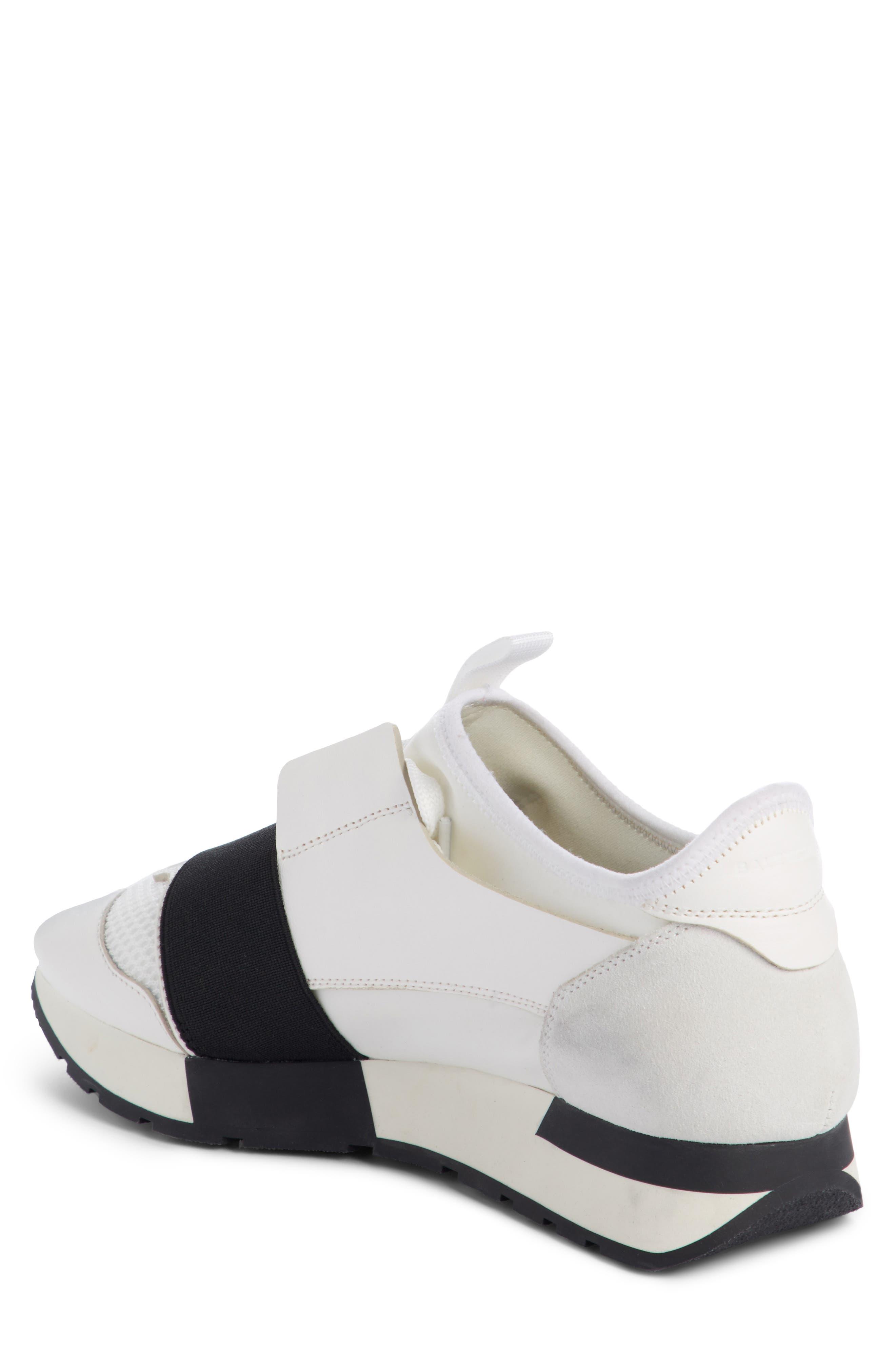 Mixed Media Trainer Sneaker,                             Alternate thumbnail 2, color,                             White/ Black