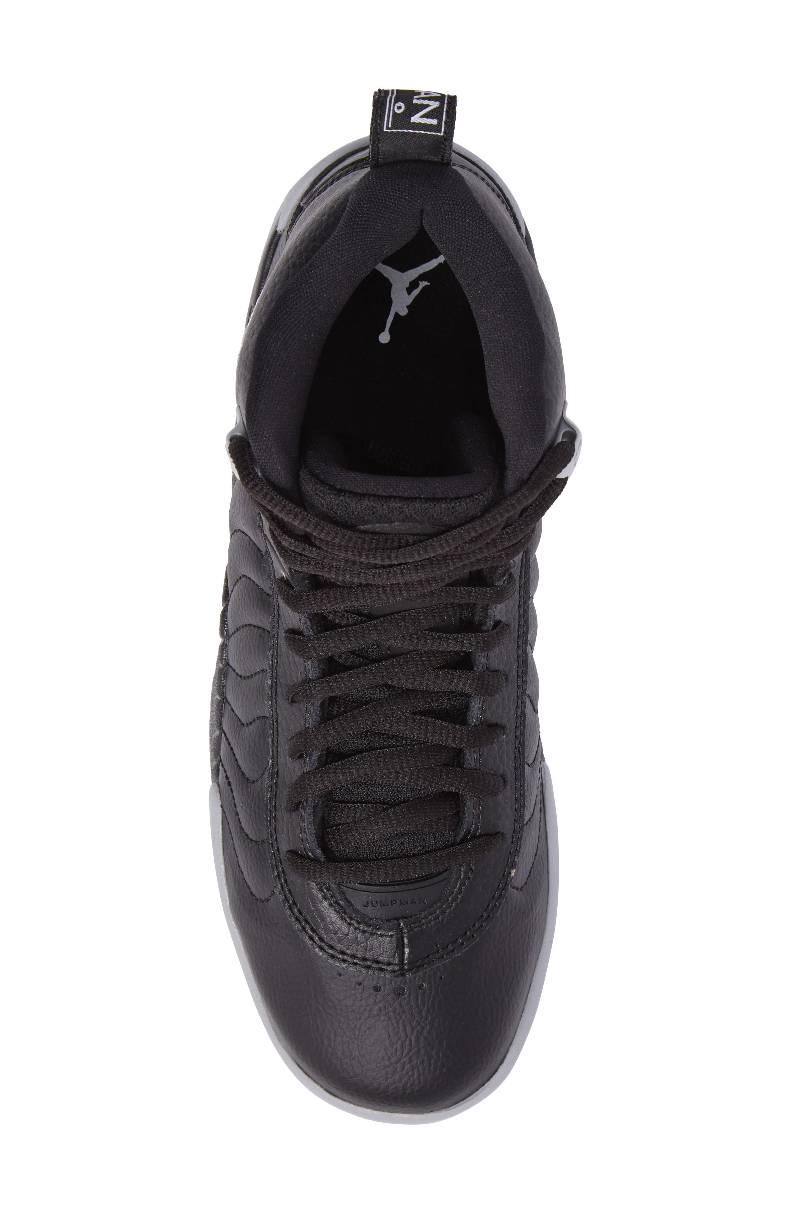 Jumpman Pro BG Mid Top Sneaker,                             Alternate thumbnail 5, color,                             Black/ White-Wolf Grey