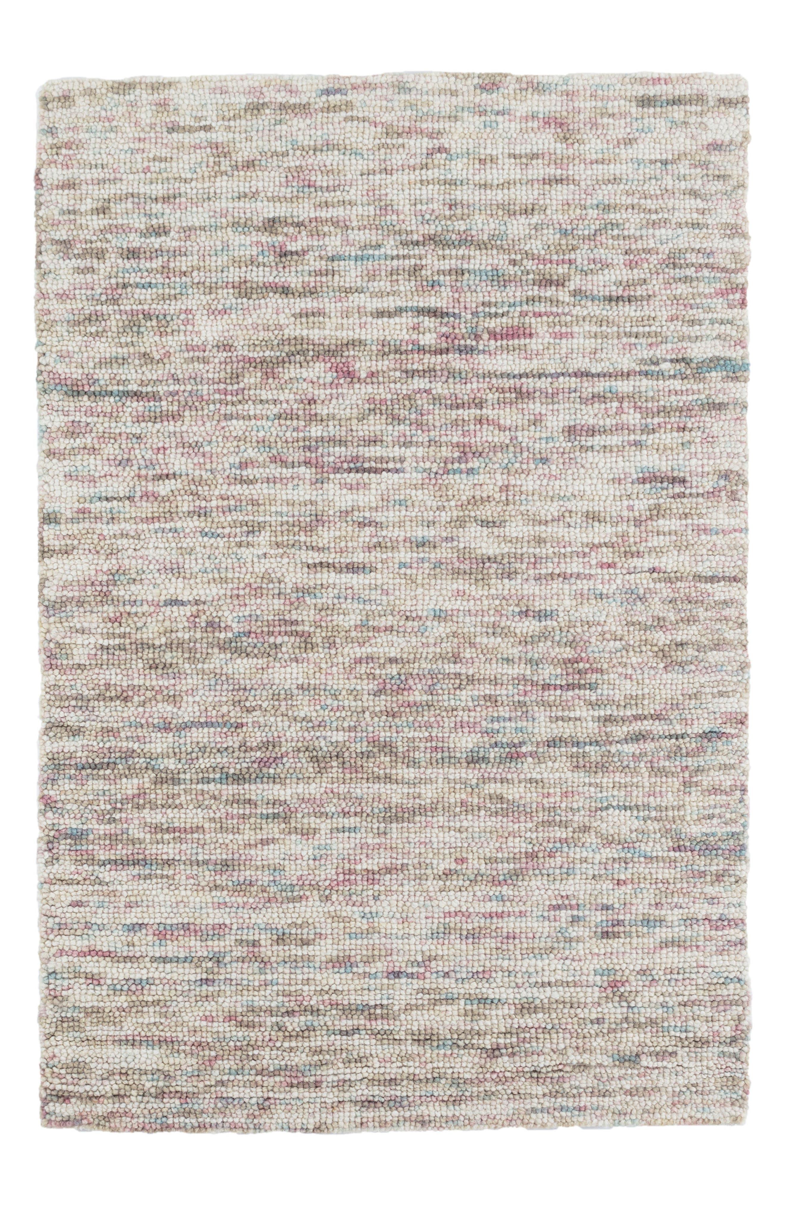 Artisanal Hooked Wool Rug,                         Main,                         color, Blue