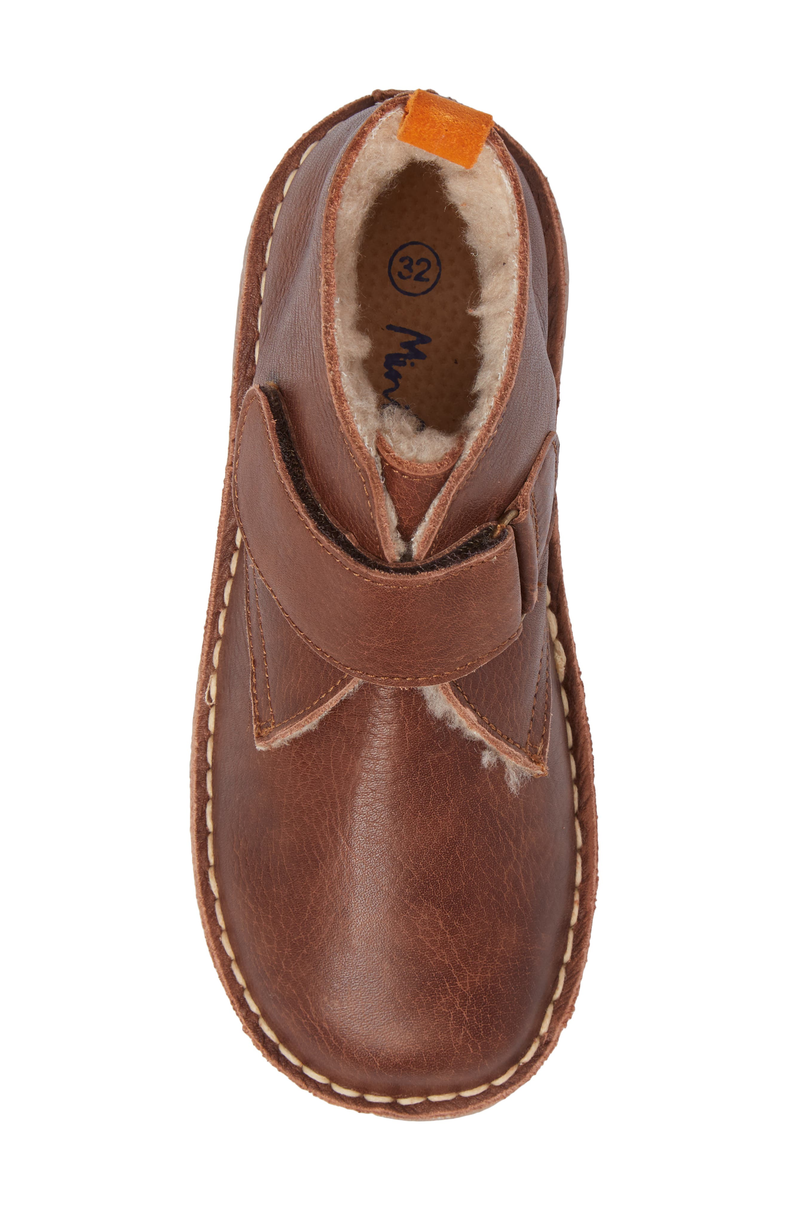 Faux Fur Desert Boot,                             Alternate thumbnail 5, color,                             Brown