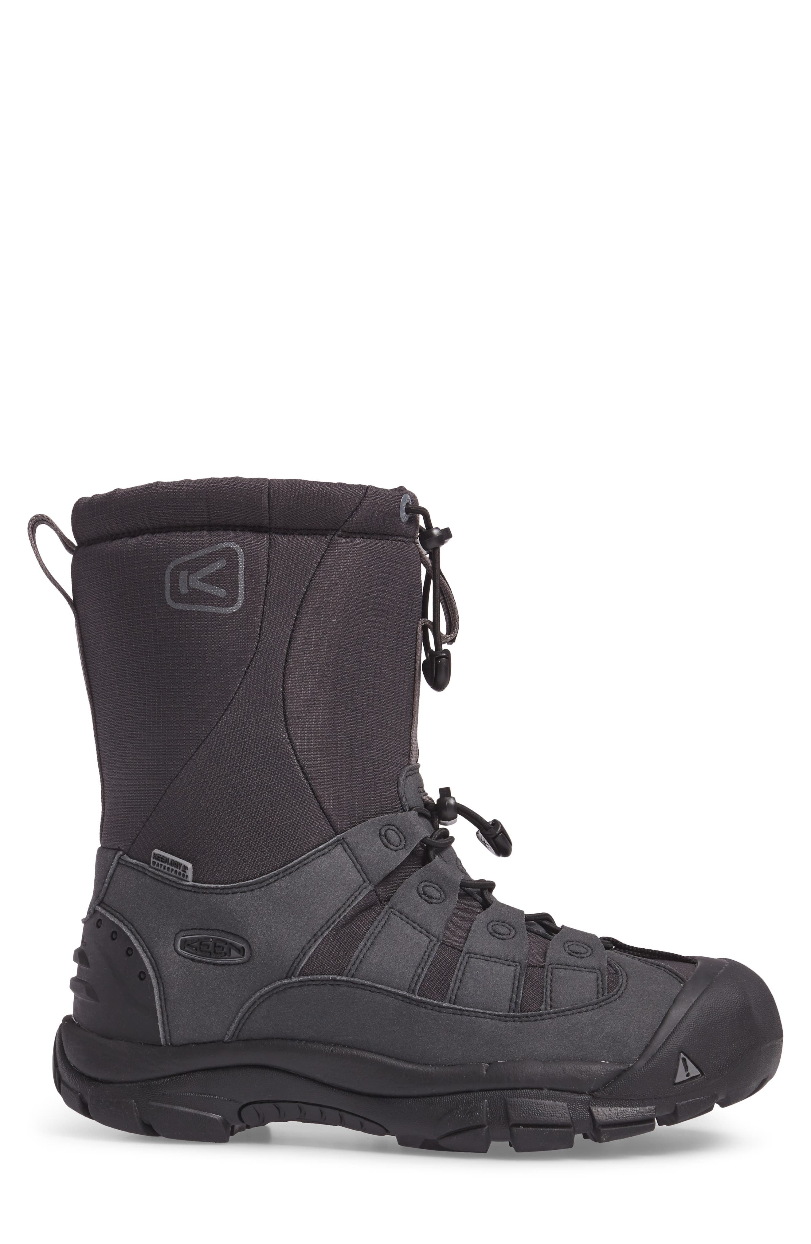 Winterport II Waterproof Insulated Snow Boot,                             Alternate thumbnail 3, color,                             Black/ Frost Gray