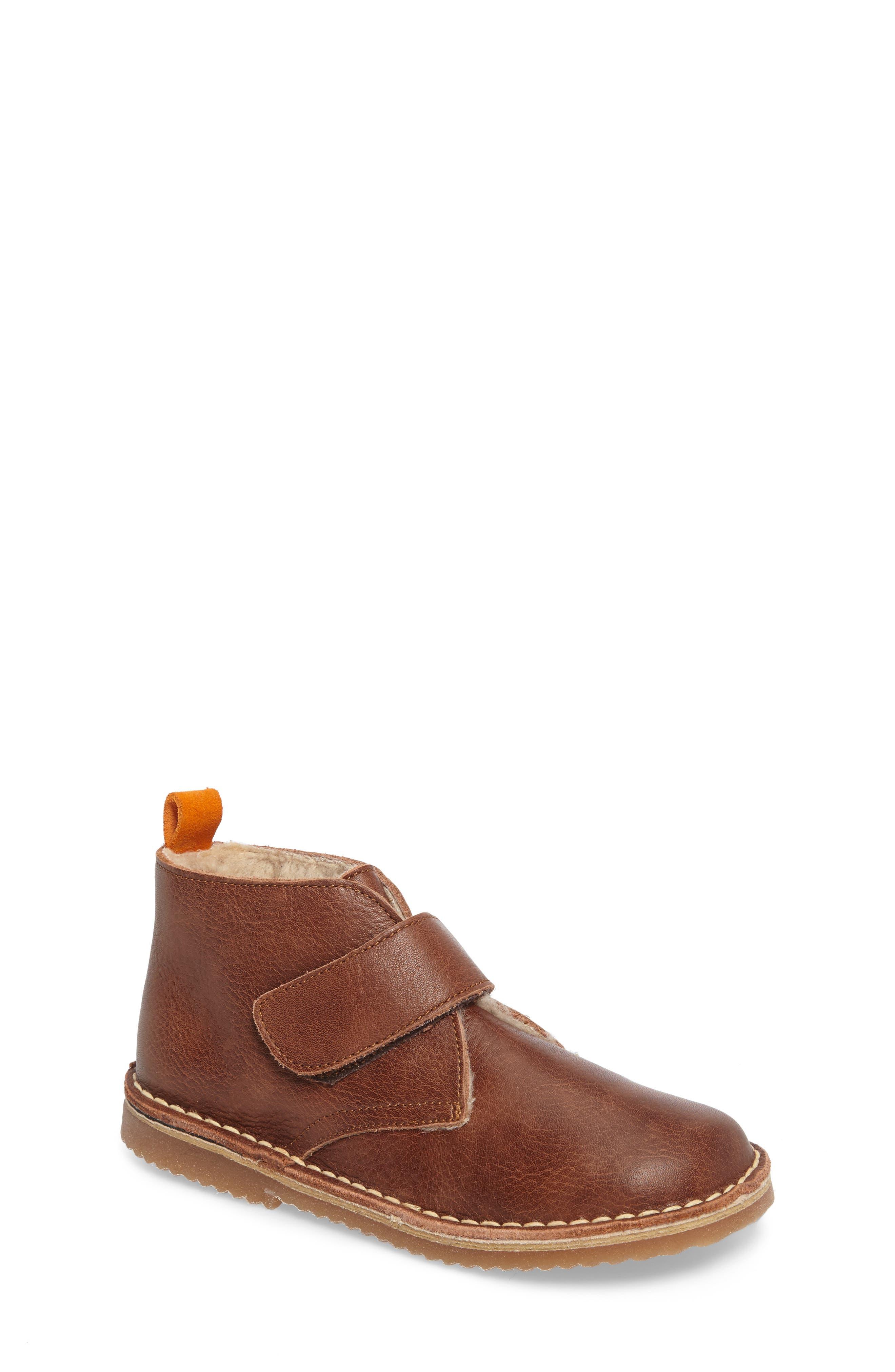 Faux Fur Desert Boot,                             Main thumbnail 1, color,                             Brown