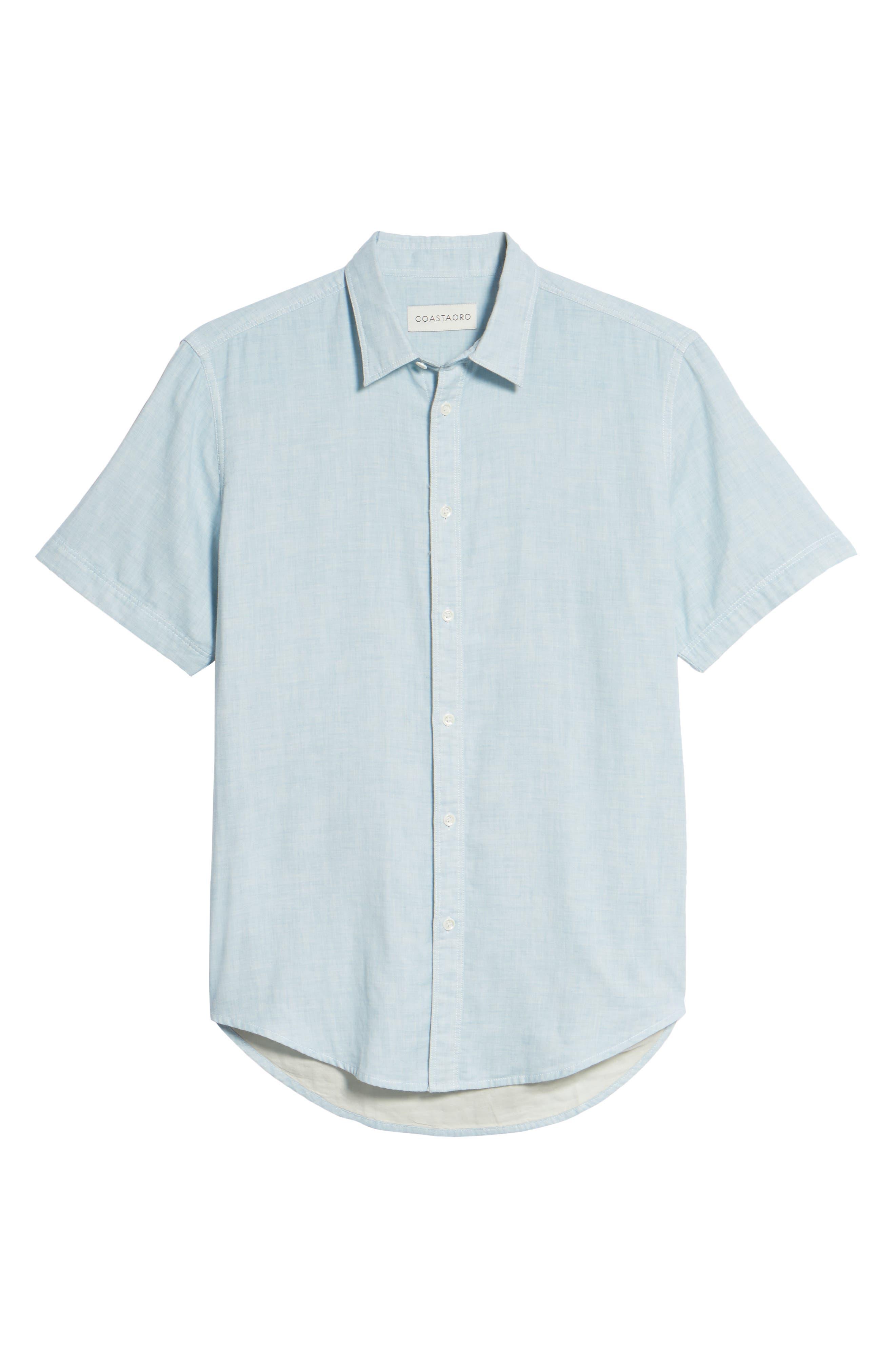 Encinitas Regular Fit Sport Shirt,                             Alternate thumbnail 6, color,                             Sky