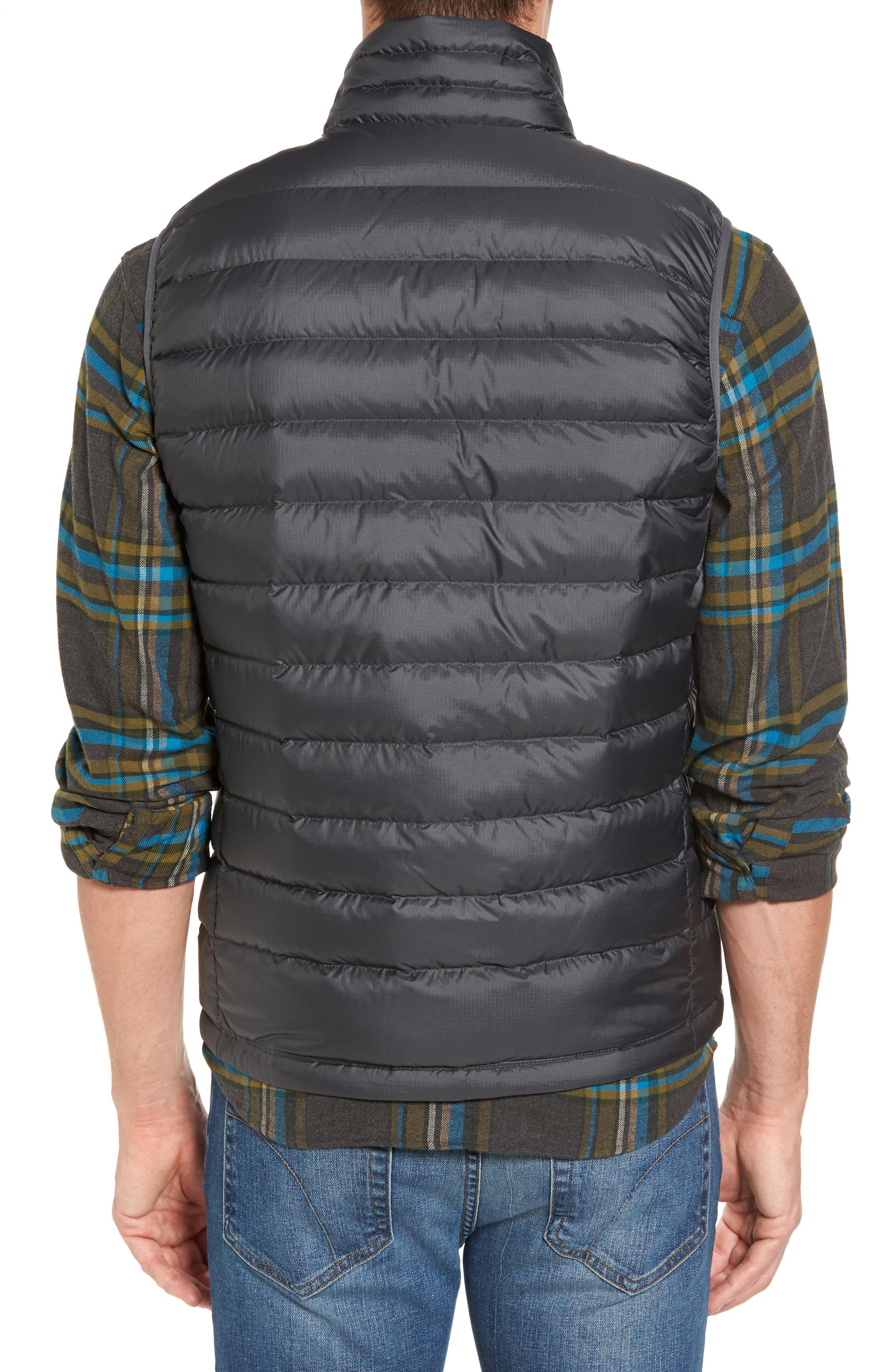 Windproof & Water Resistant 800 Fill Power Down Quilted Vest,                             Alternate thumbnail 2, color,                             Forge Grey W/ Forge Grey