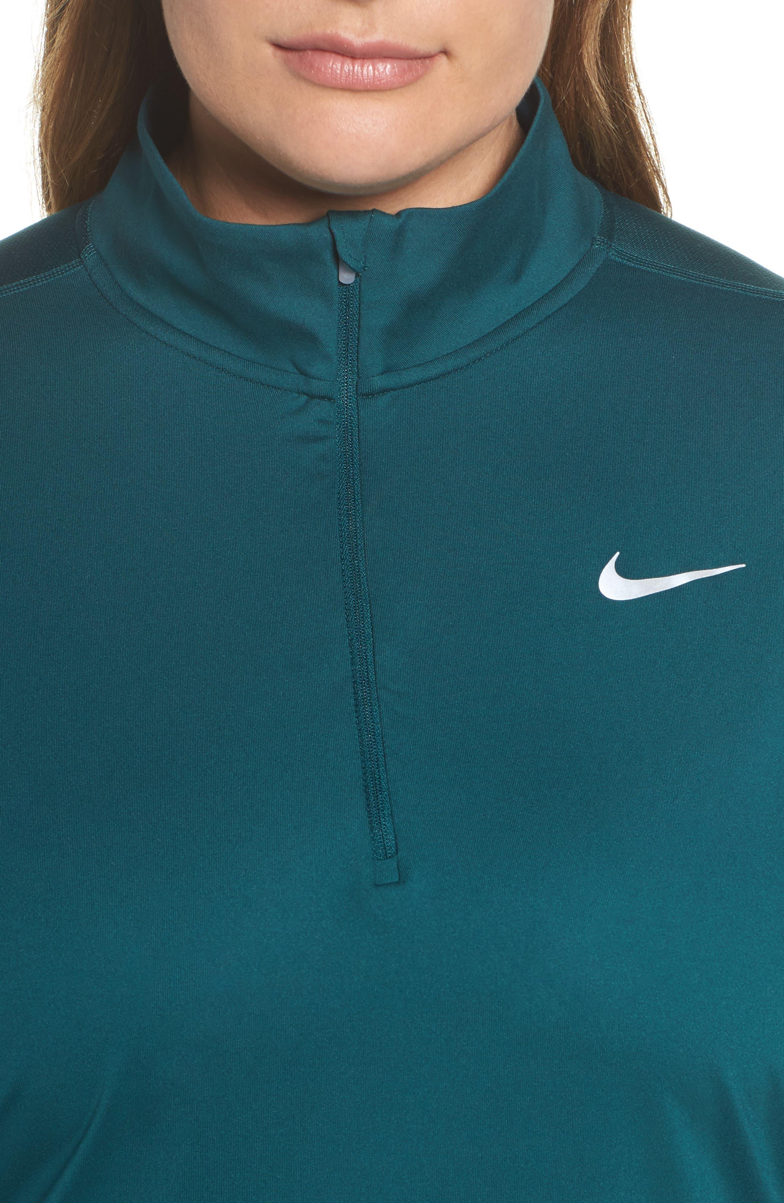 Alternate Image 3  - Nike Dry Element Half Zip Top (Plus Size)
