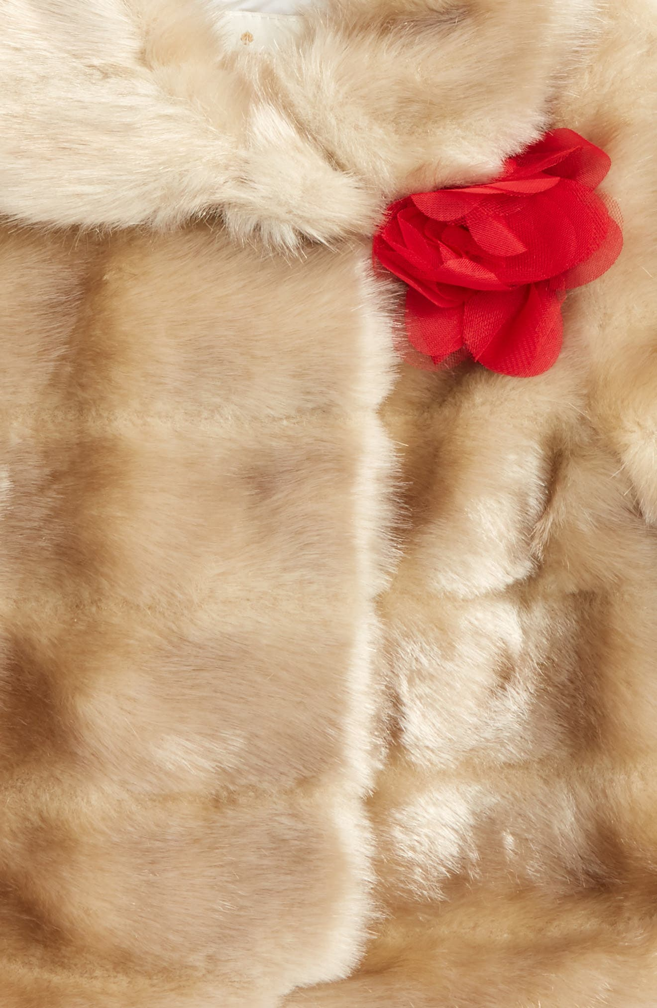 Alternate Image 2  - kate spade new york faux mink fur coat (Baby Girls)