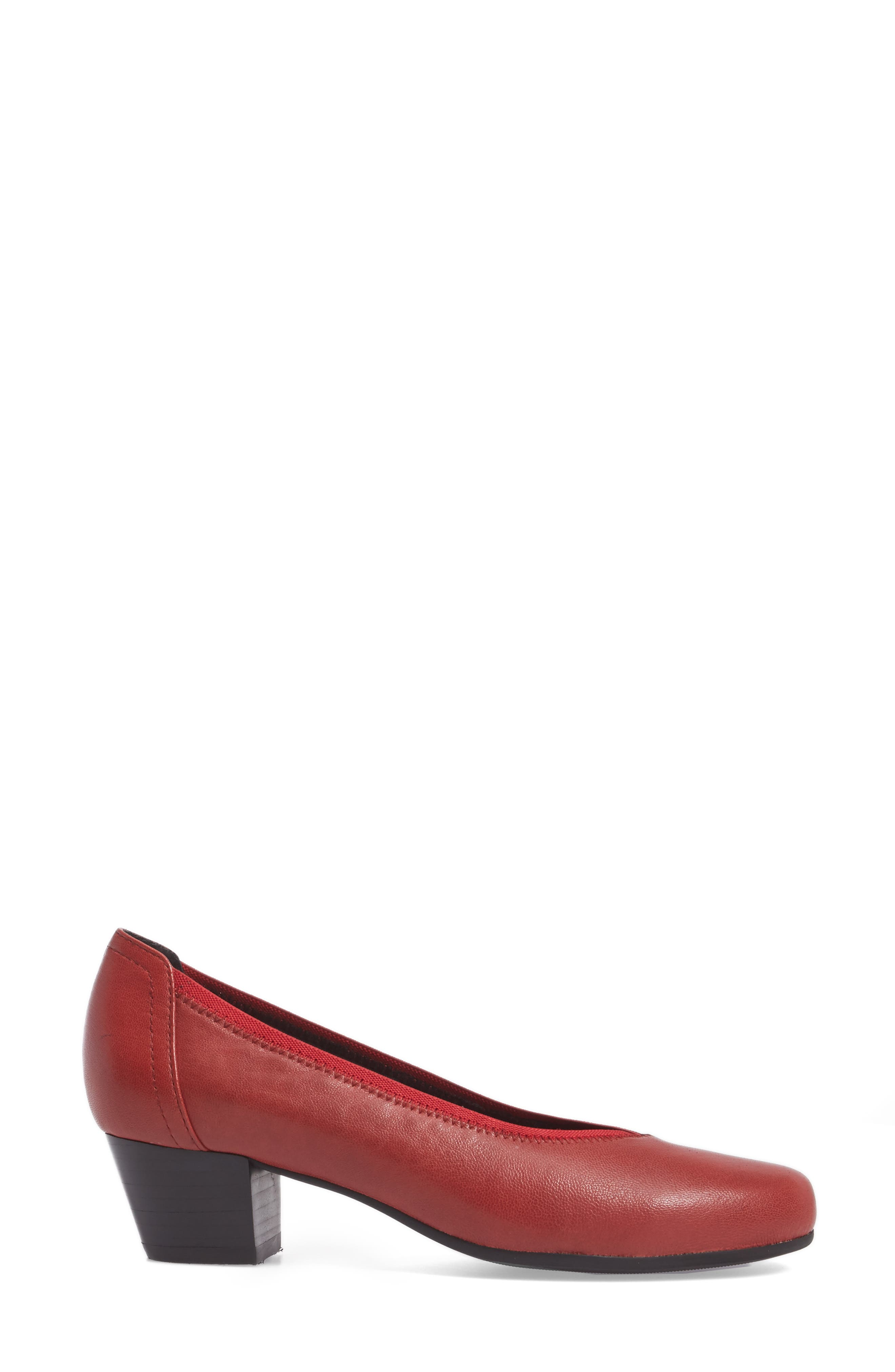 Madera Pump,                             Alternate thumbnail 3, color,                             Red Leather