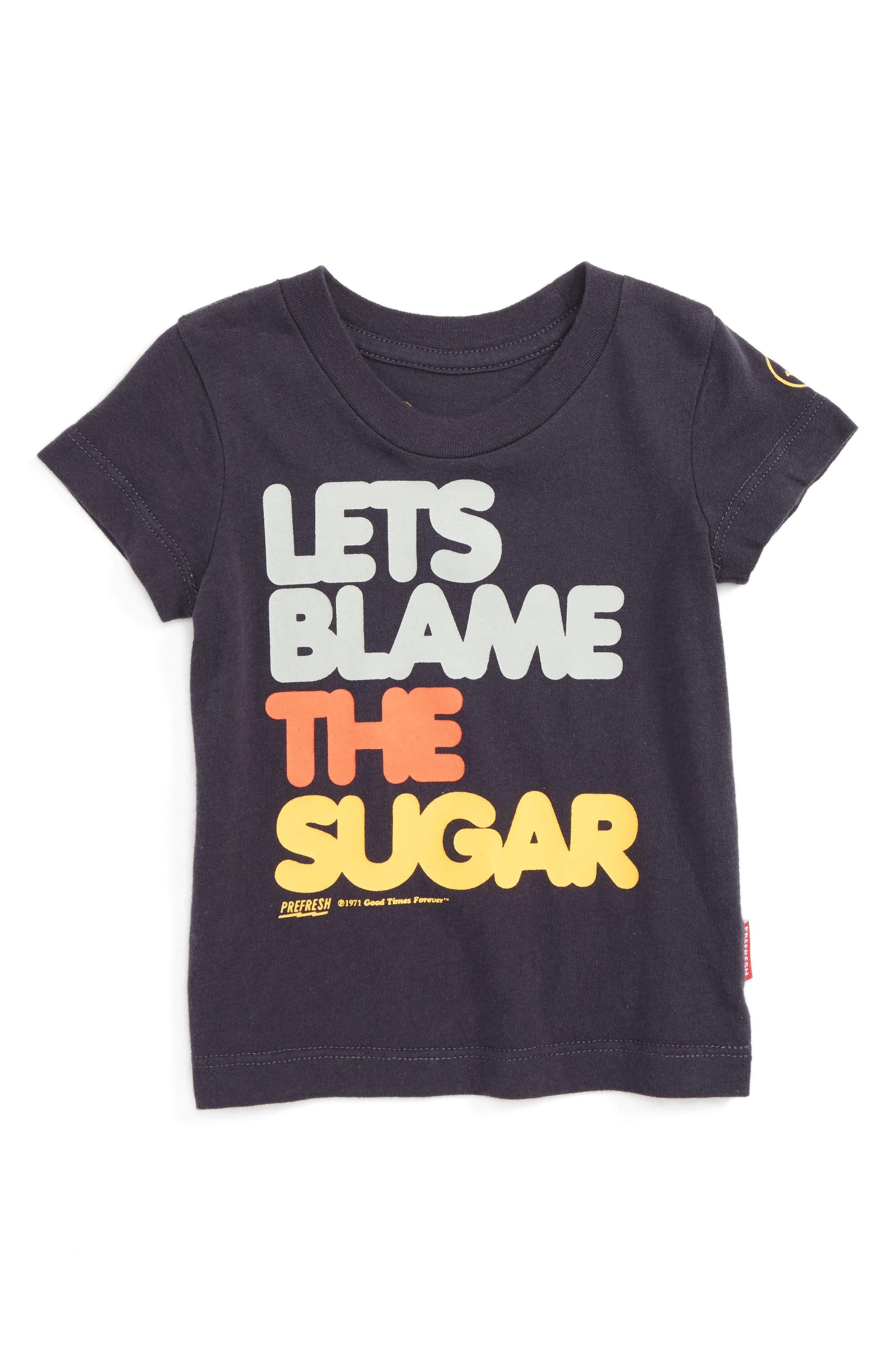 Main Image - Prefresh Let's Blame The Sugar Graphic T-Shirt (Baby Boys)