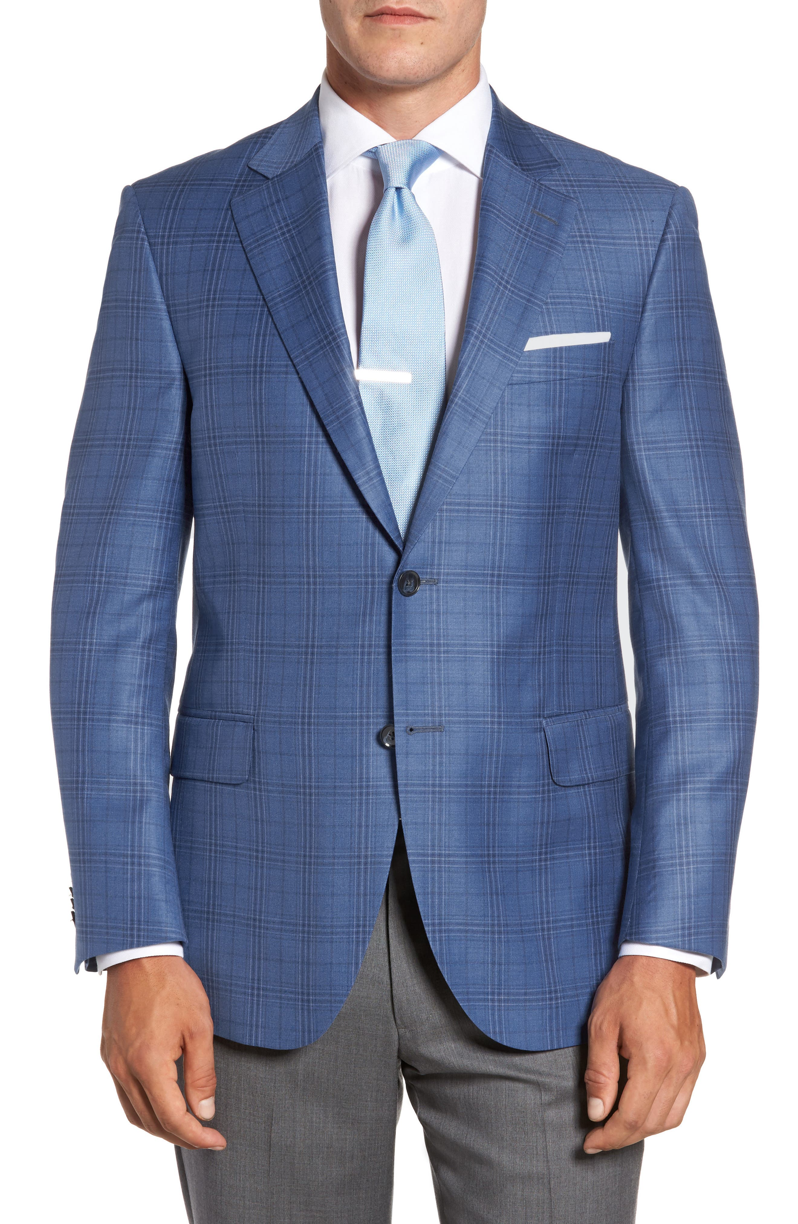 Alternate Image 1 Selected - Peter Millar Flynn Classic Fit Plaid Wool Sport Coat