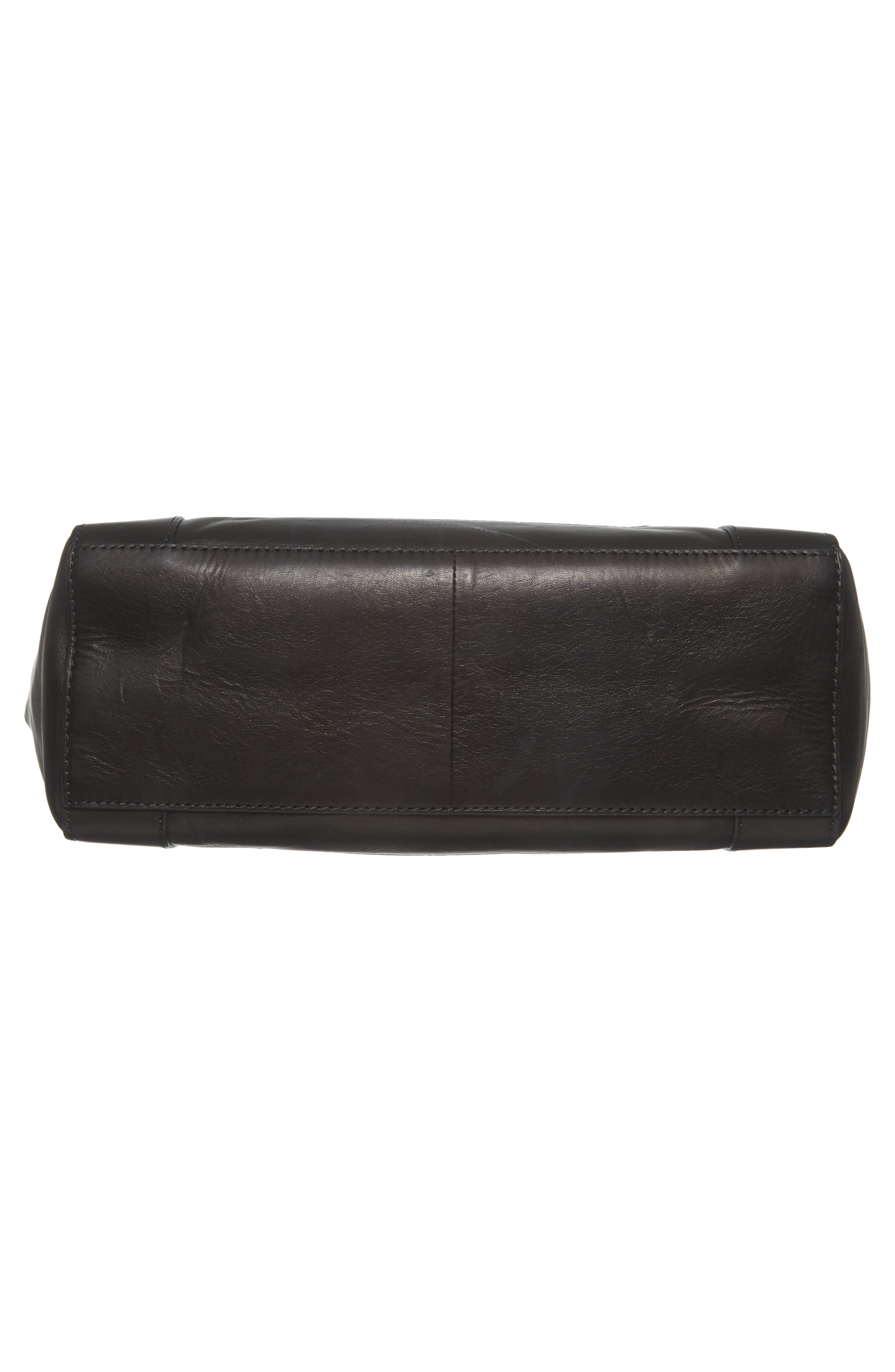 Melissa Leather Shoulder Bag,                             Alternate thumbnail 5, color,                             Black