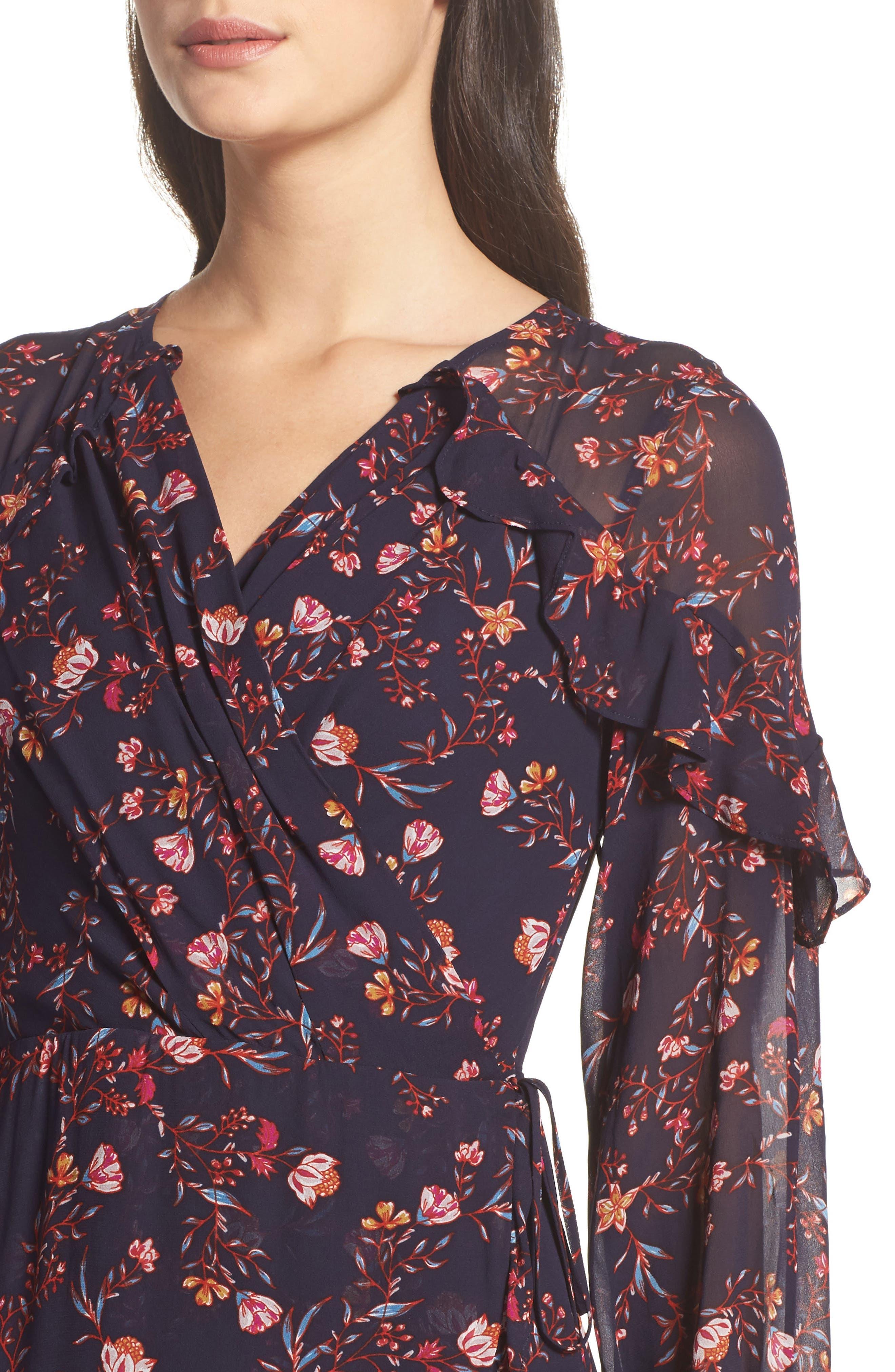 Alternate Image 4  - Greylin Esther Ruffle Wrap Dress