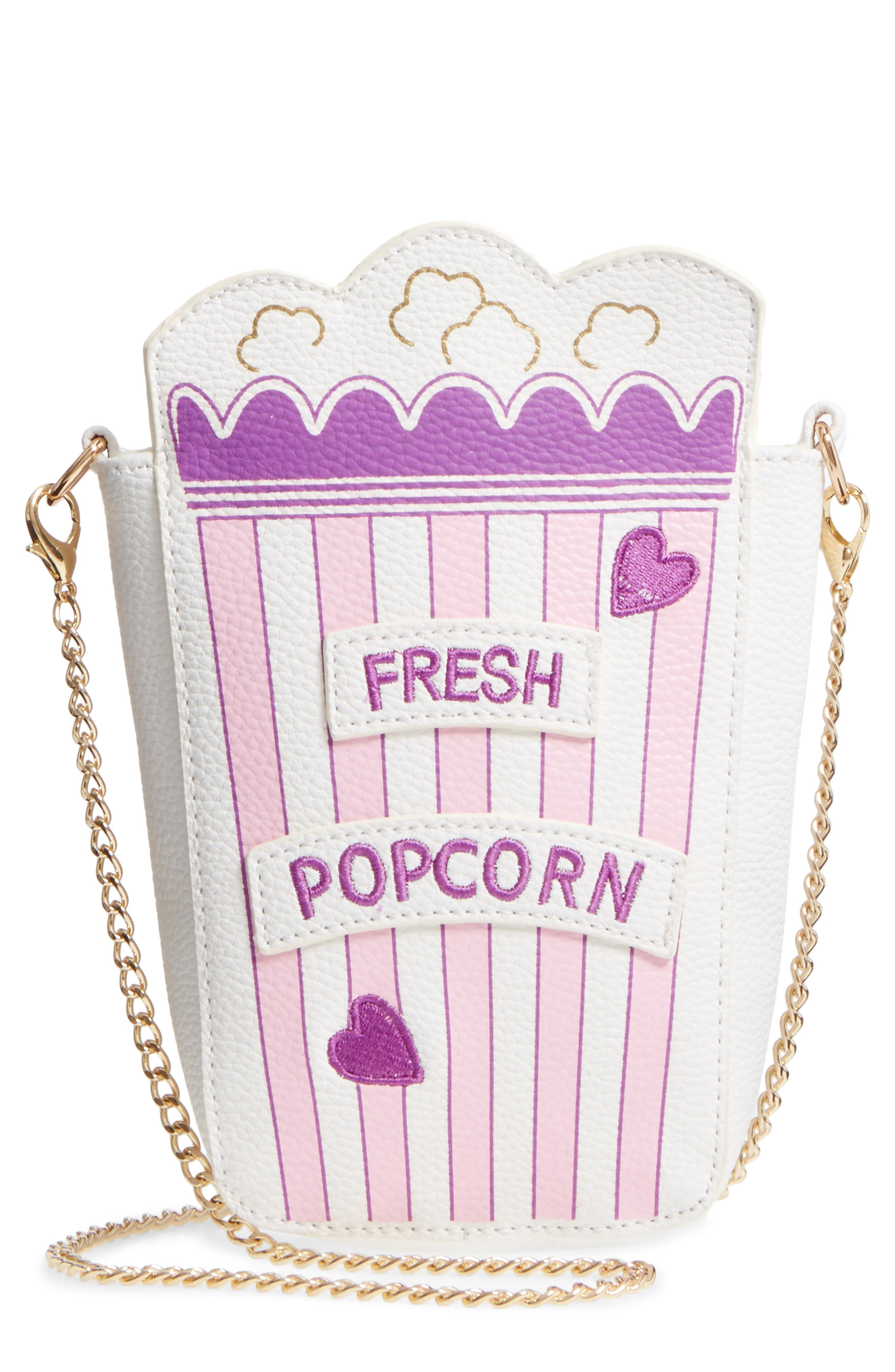 Hannah Banana Fresh Popcorn Faux Leather Shoulder Bag (Girls)