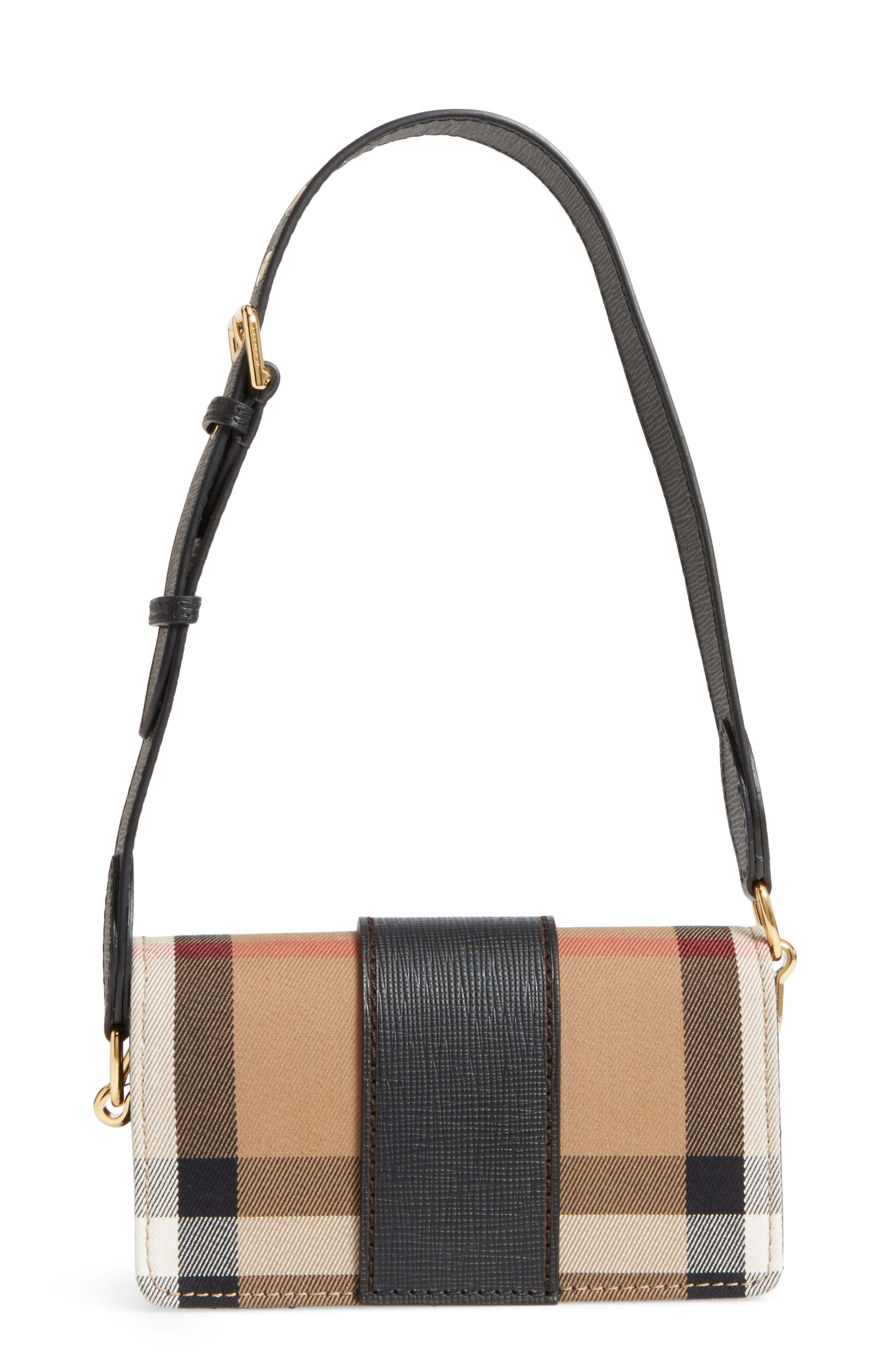 Alternate Image 3  - Burberry Small Buckle House Check & Leather Convertible Clutch