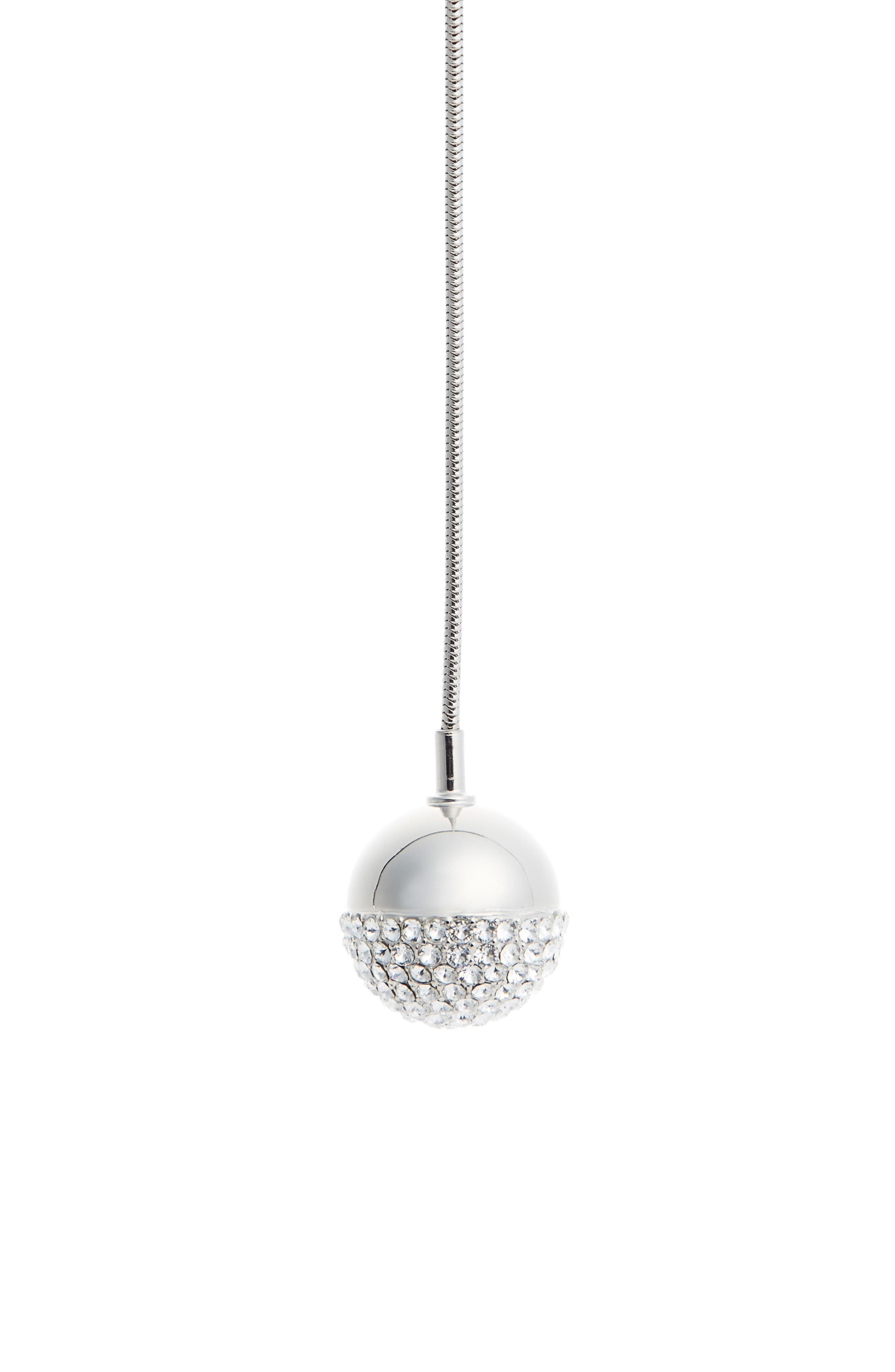 Swarovski Crystal Orb Figure Eight Necklace,                         Main,                         color, Palladium