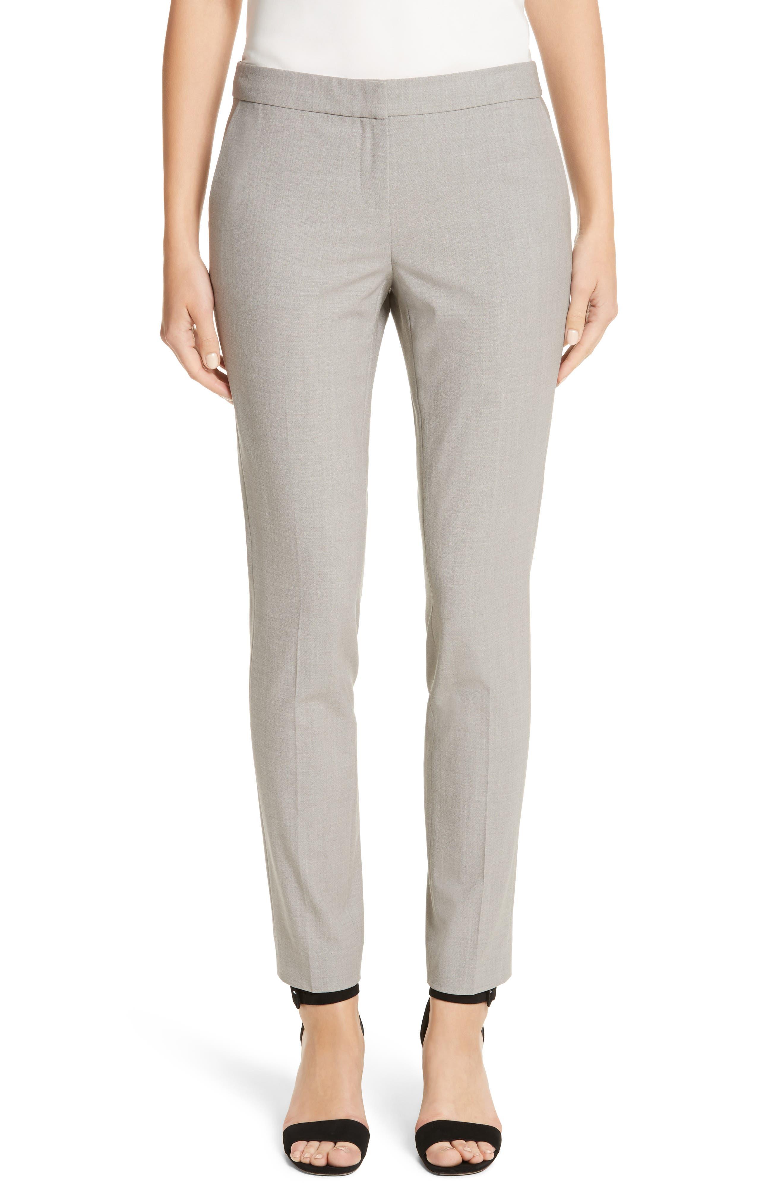 Manhattan Slim Pants,                             Main thumbnail 1, color,                             Feather Grey Melange
