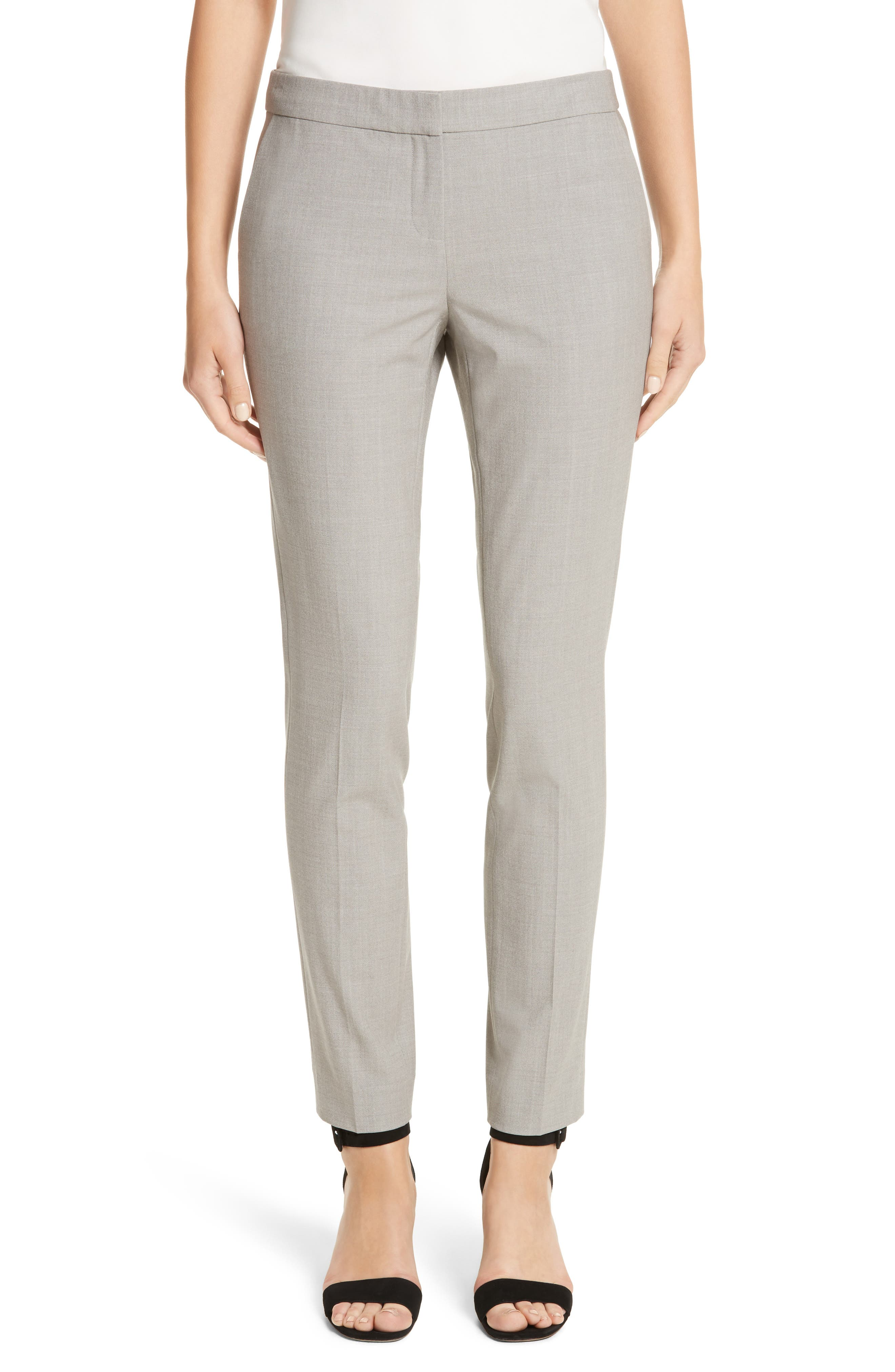 Manhattan Slim Pants,                         Main,                         color, Feather Grey Melange
